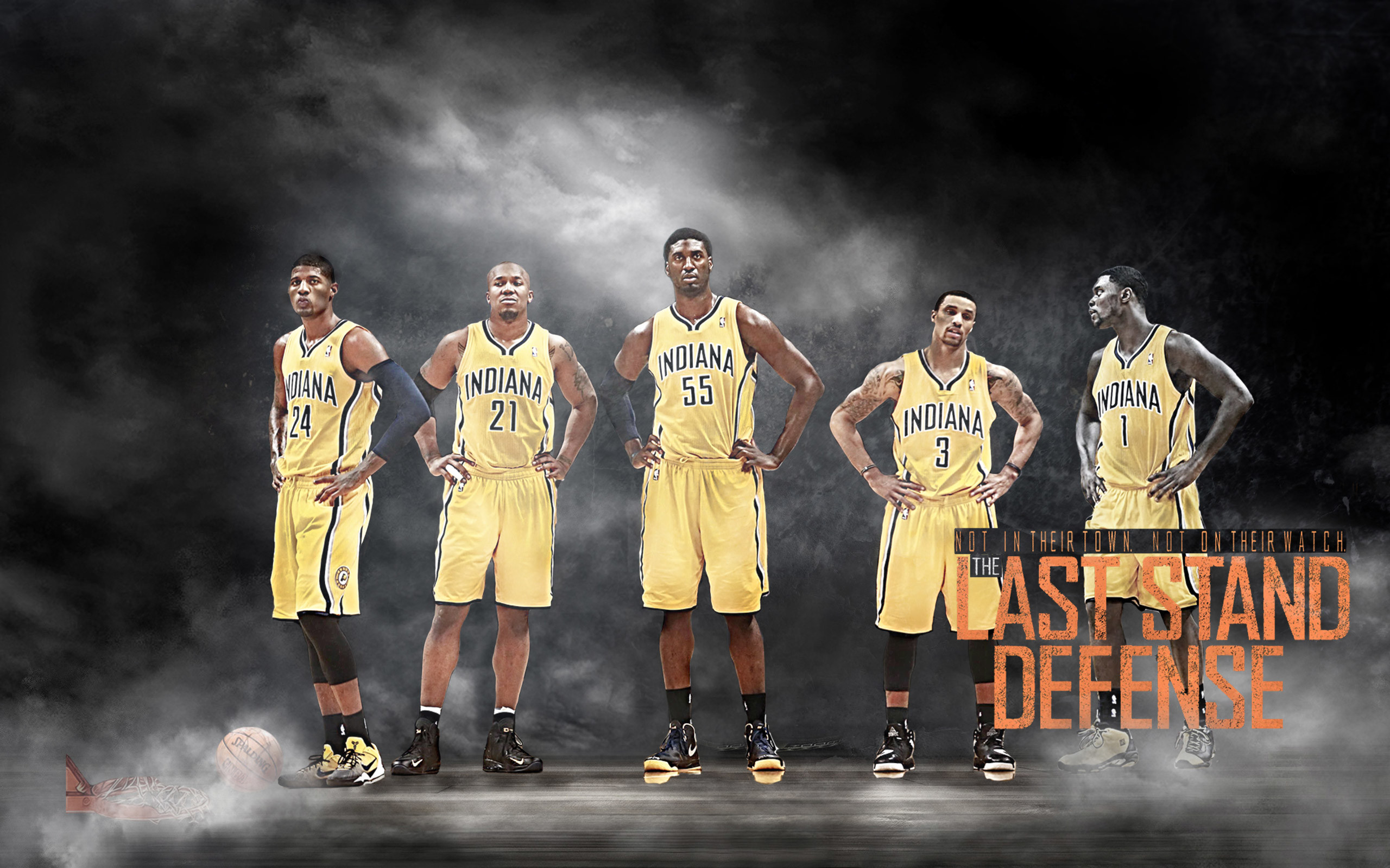 2560x1600 Indiana Pacers Basketball Team Wallpaper 2014 #2864 Wallpaper