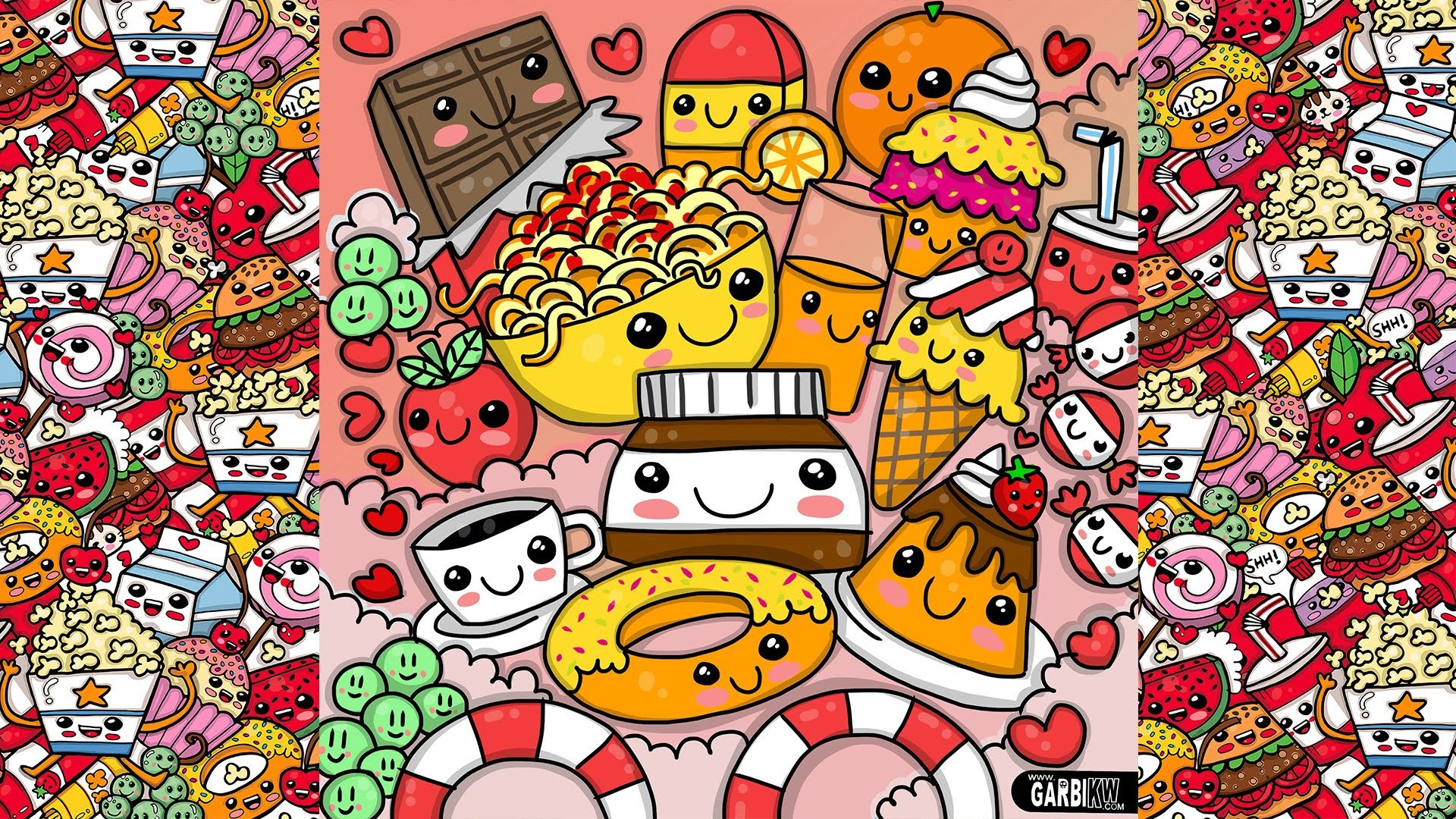 Cute cartoon food wallpapers 67 images - Kawaii food wallpaper ...