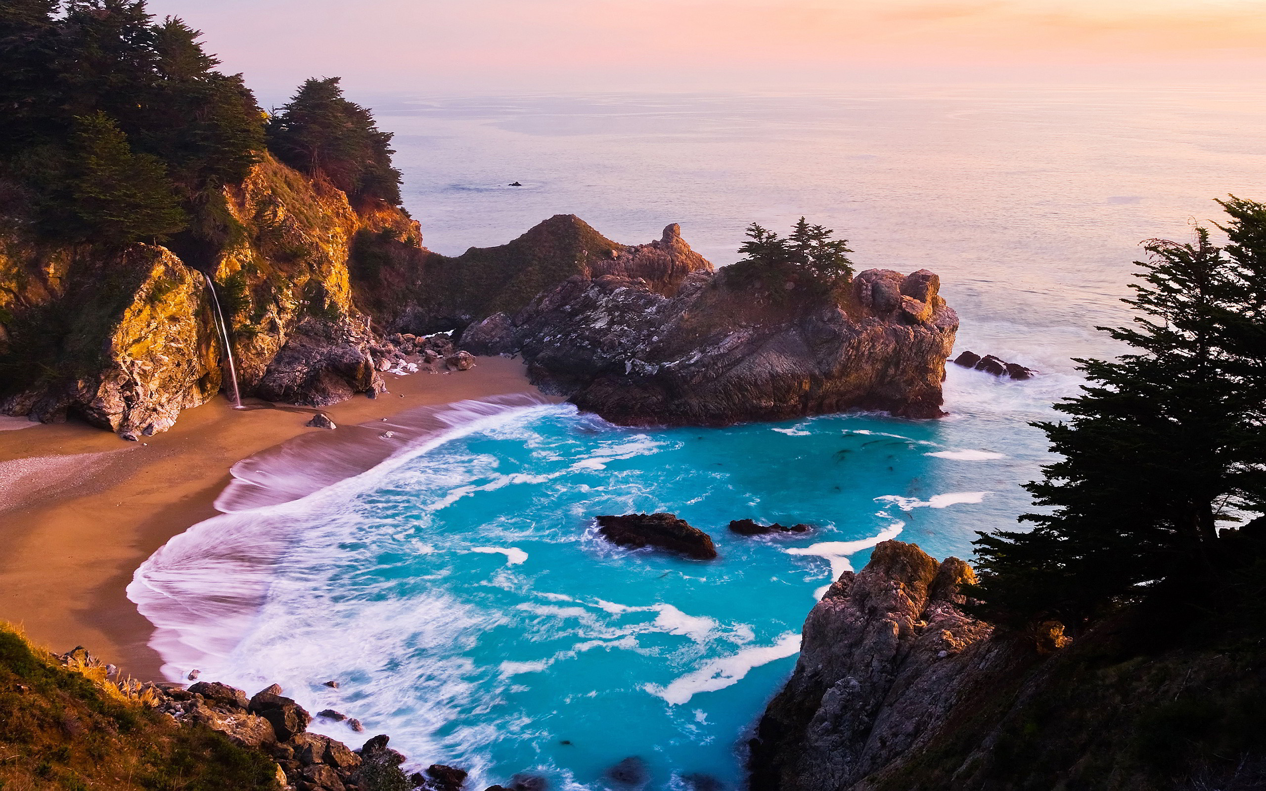 2560x1600 Related Wallpapers from Ocean Wave Wallpaper. Mcway falls california