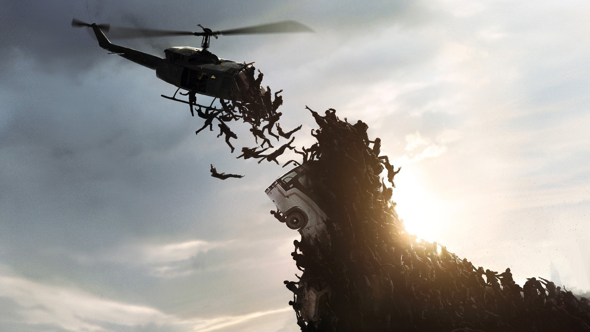 1920x1080 World war z falling skies zombie apocalypse wallpaper .