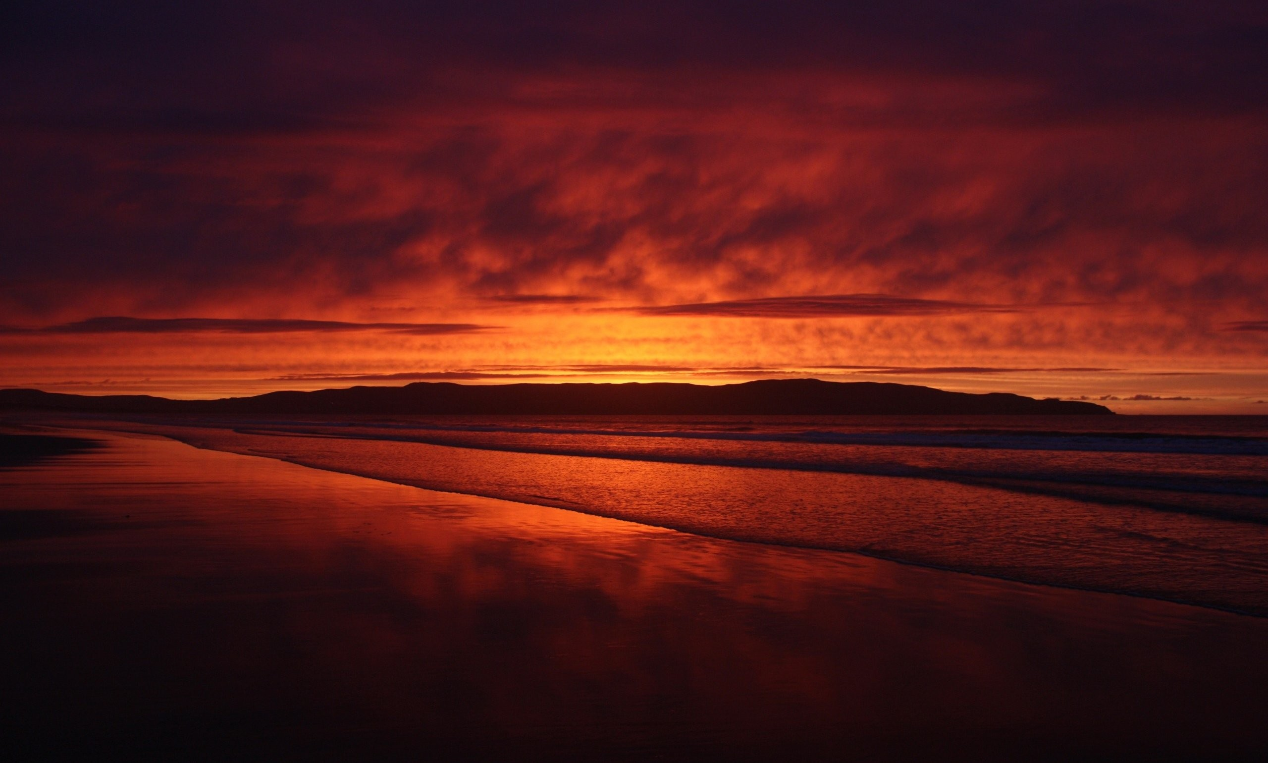 2560x1540 Backgrounds For Dark Sunset Beach Background 2560×1540