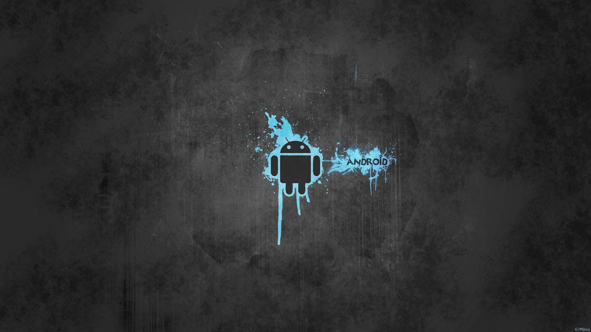 1920x1080 Wallpaper gray and blue android