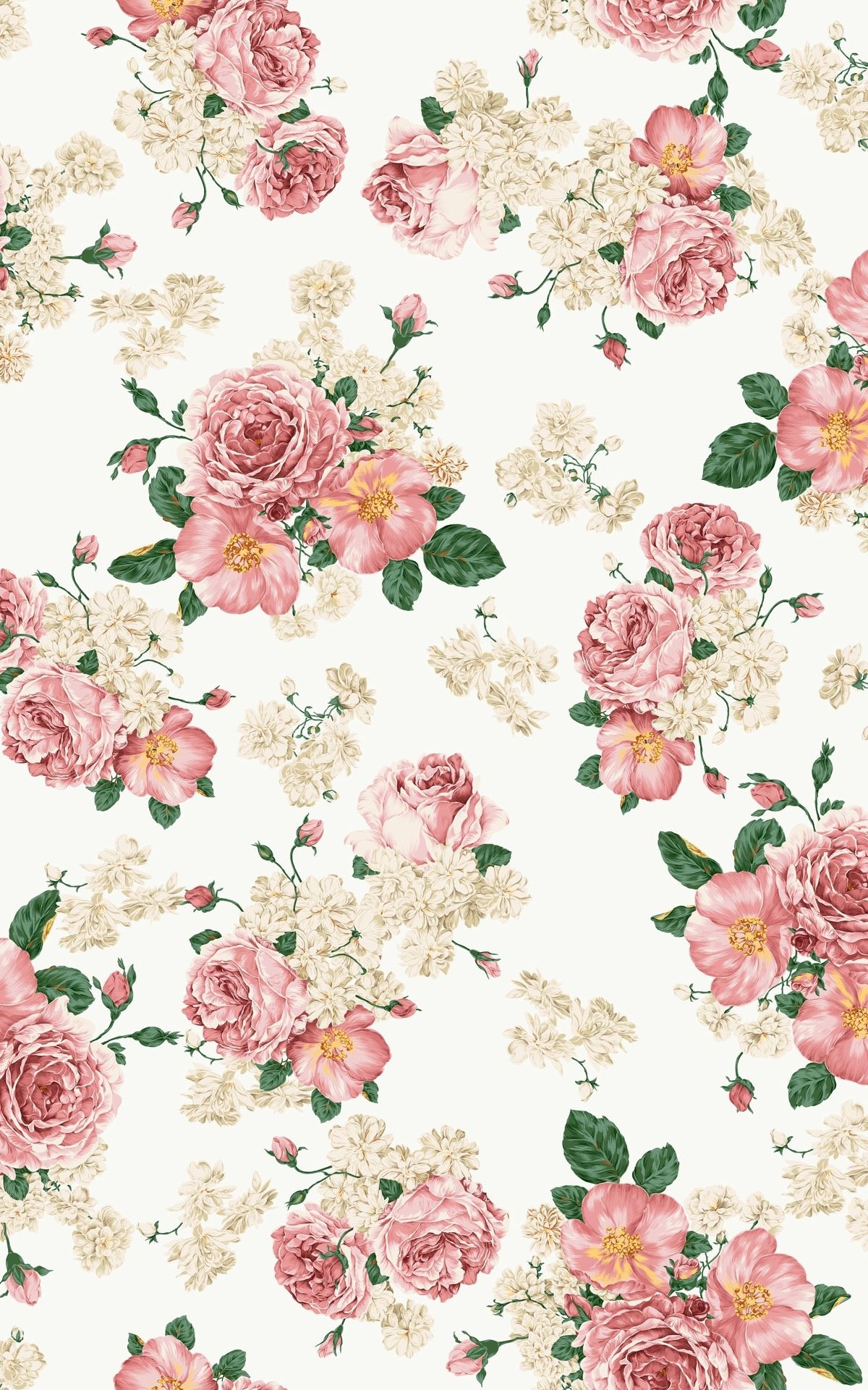 Antique flower wallpaper 50 images 1200x1920 high res vintage pink flower wallpaper mightylinksfo