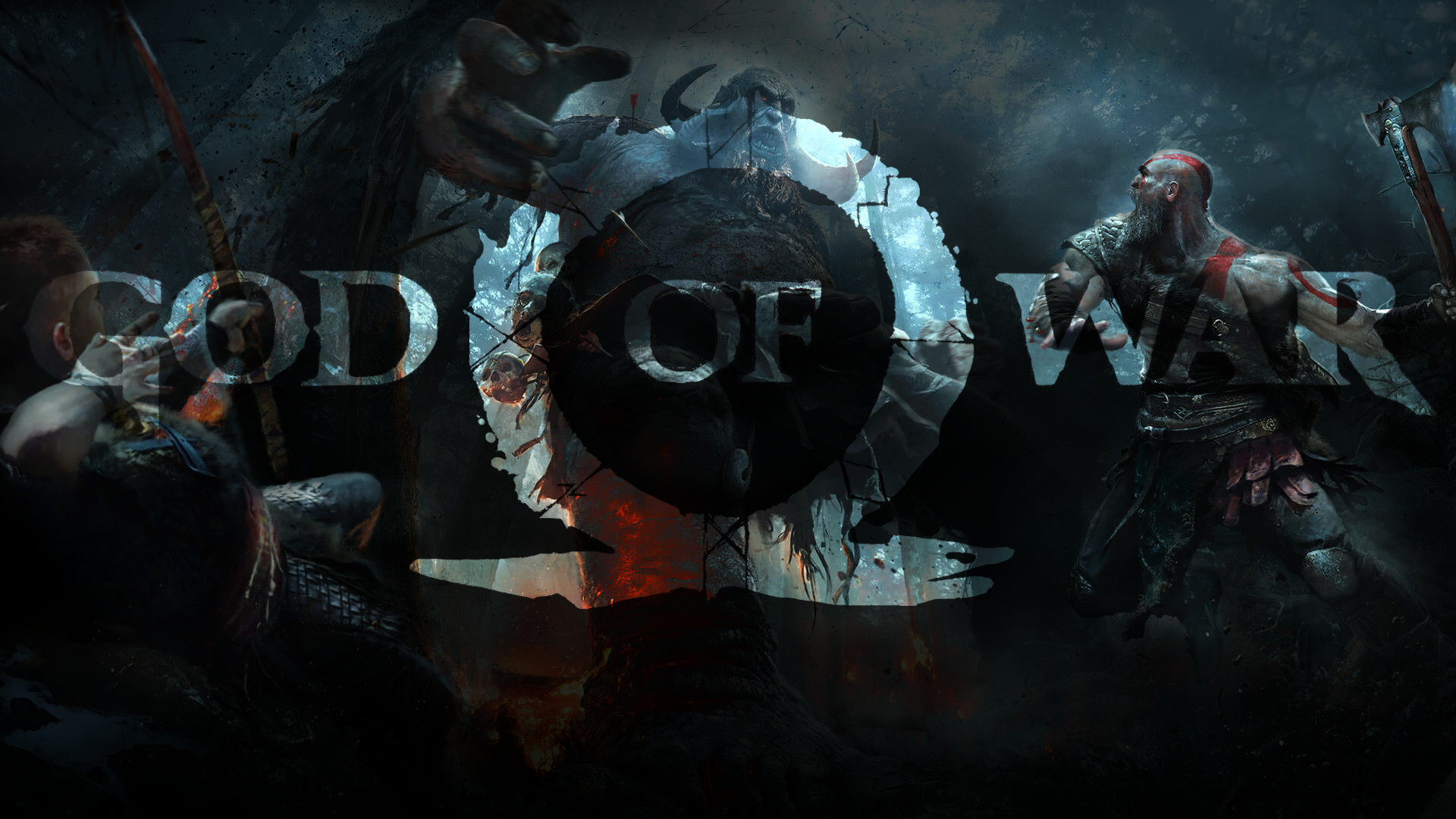 1920x1080 ... God of War PS4 Wallpaper 1080p by claterz