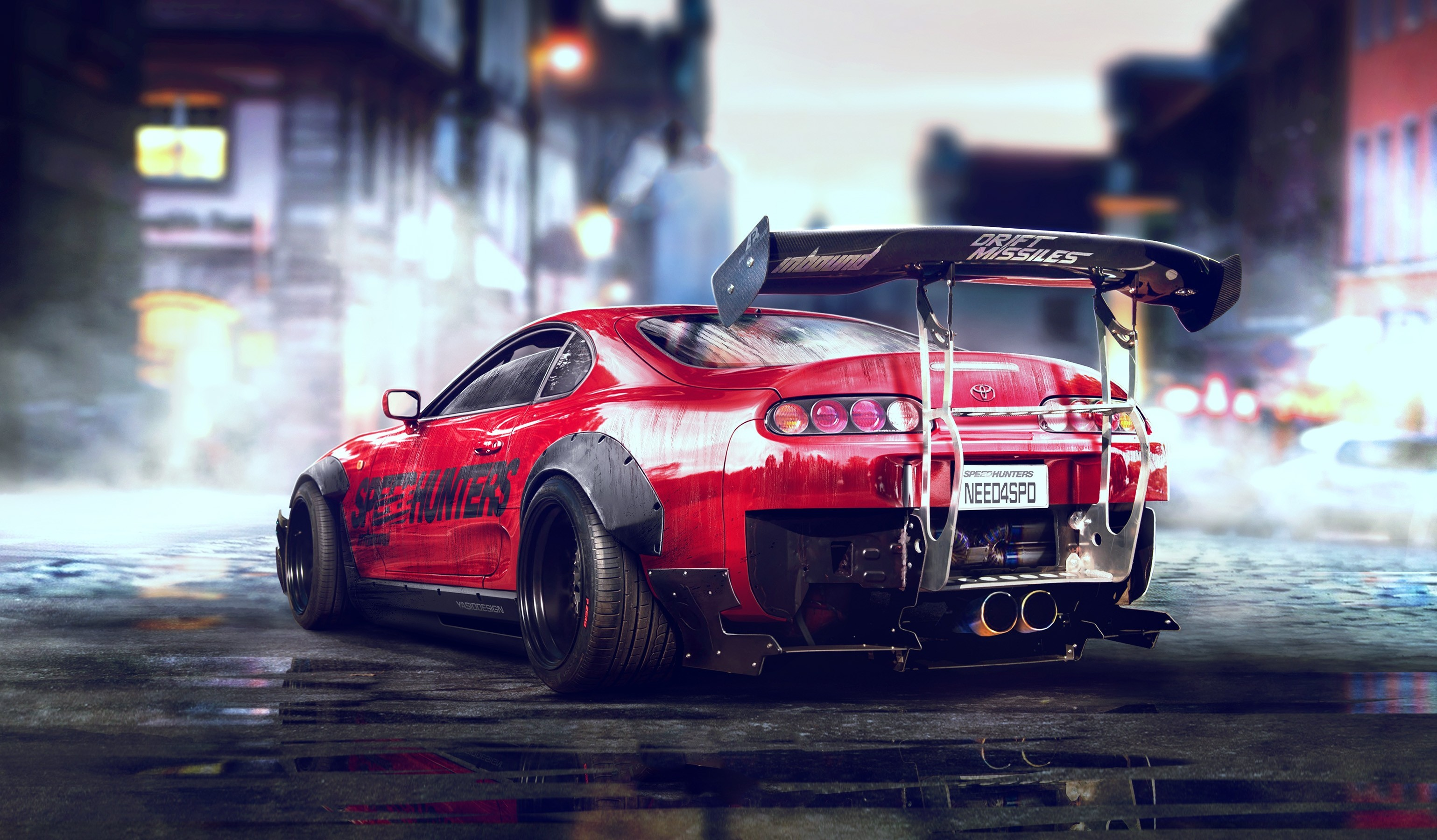 1920x1080 Toyota Supra JDM Tuning Front Fire Abstract Car 2014