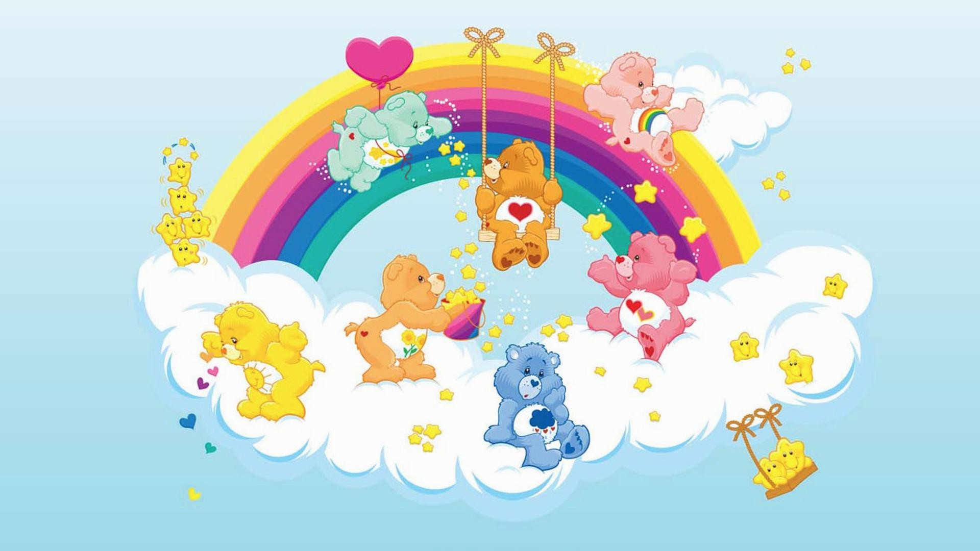 1920x1080 wallpaper.wiki-Care-Bear-HD-Background-PIC-WPC004474