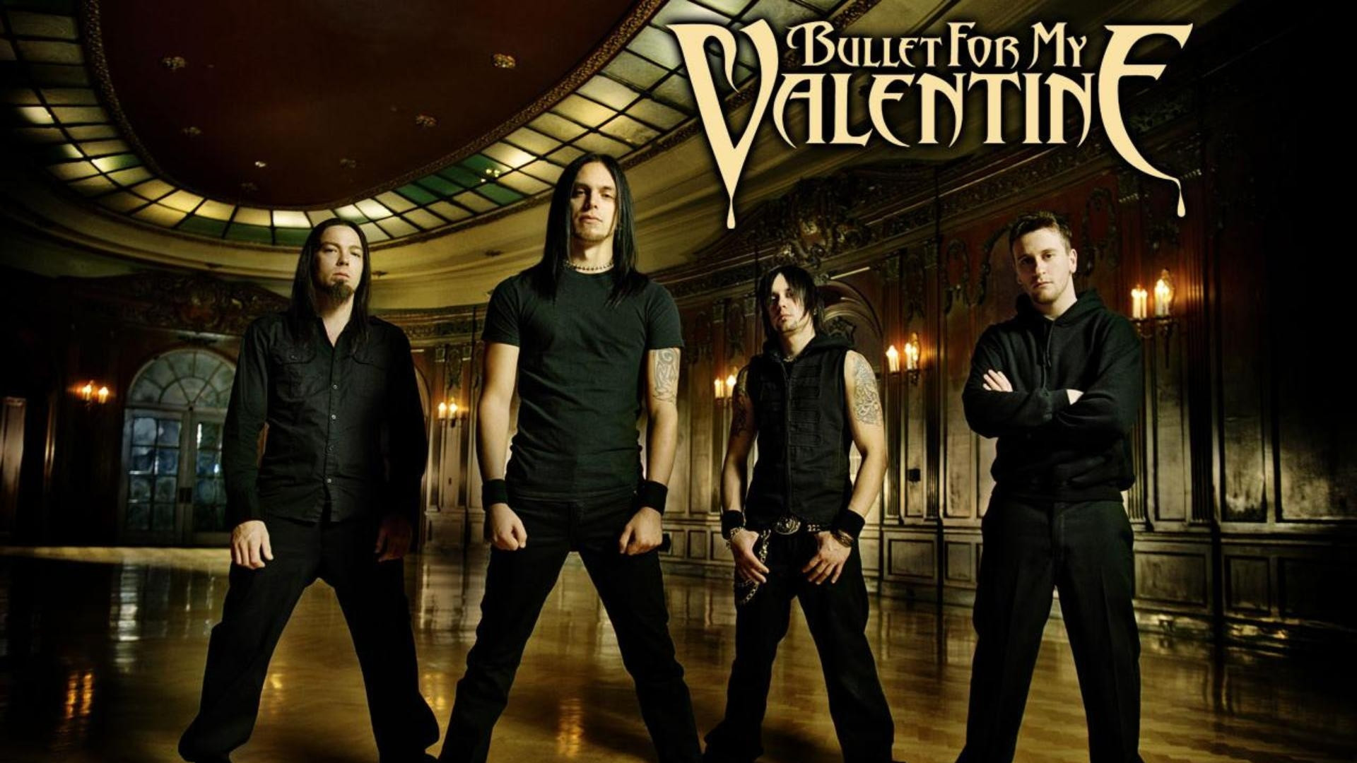 1920x1080 Preview Wallpaper Bullet For My Valentine, Band, Members, Hall,  Rockers 1920x1080