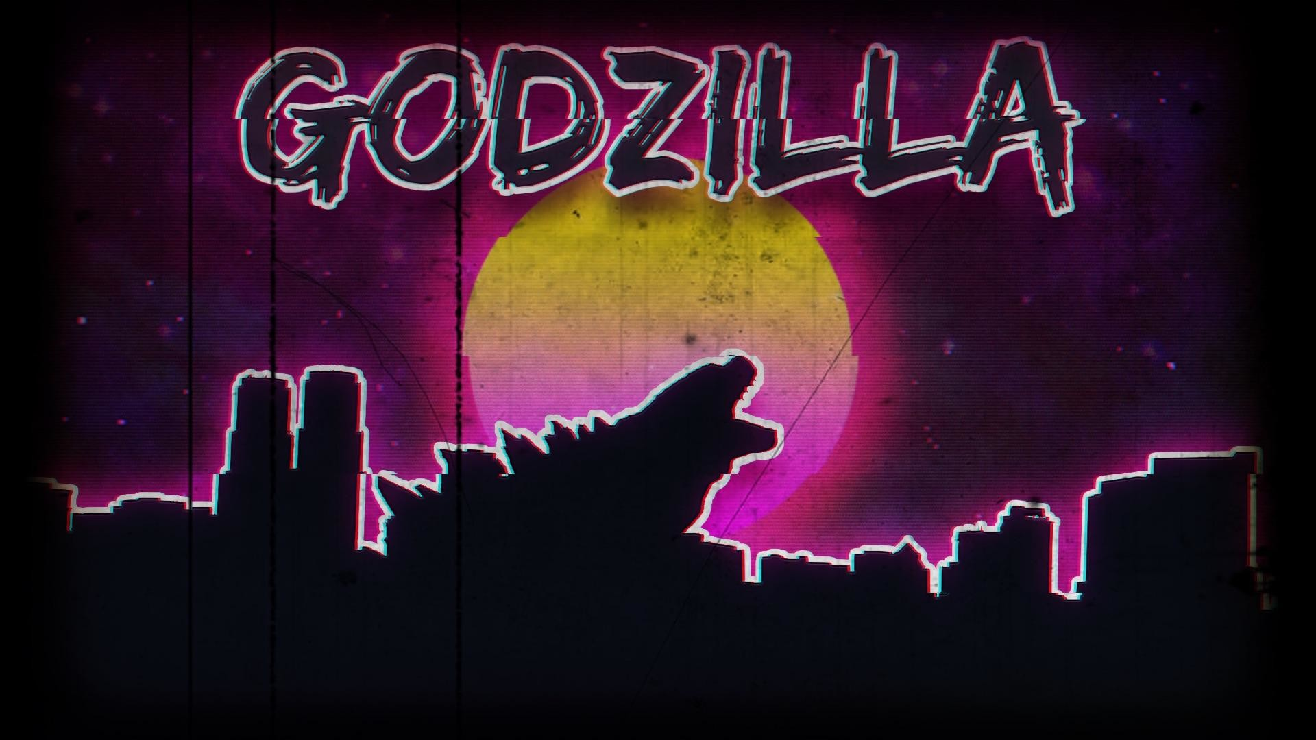 1920x1080 I made thisA retro 80s style godzilla wallpaper I threw together in  photoshop.