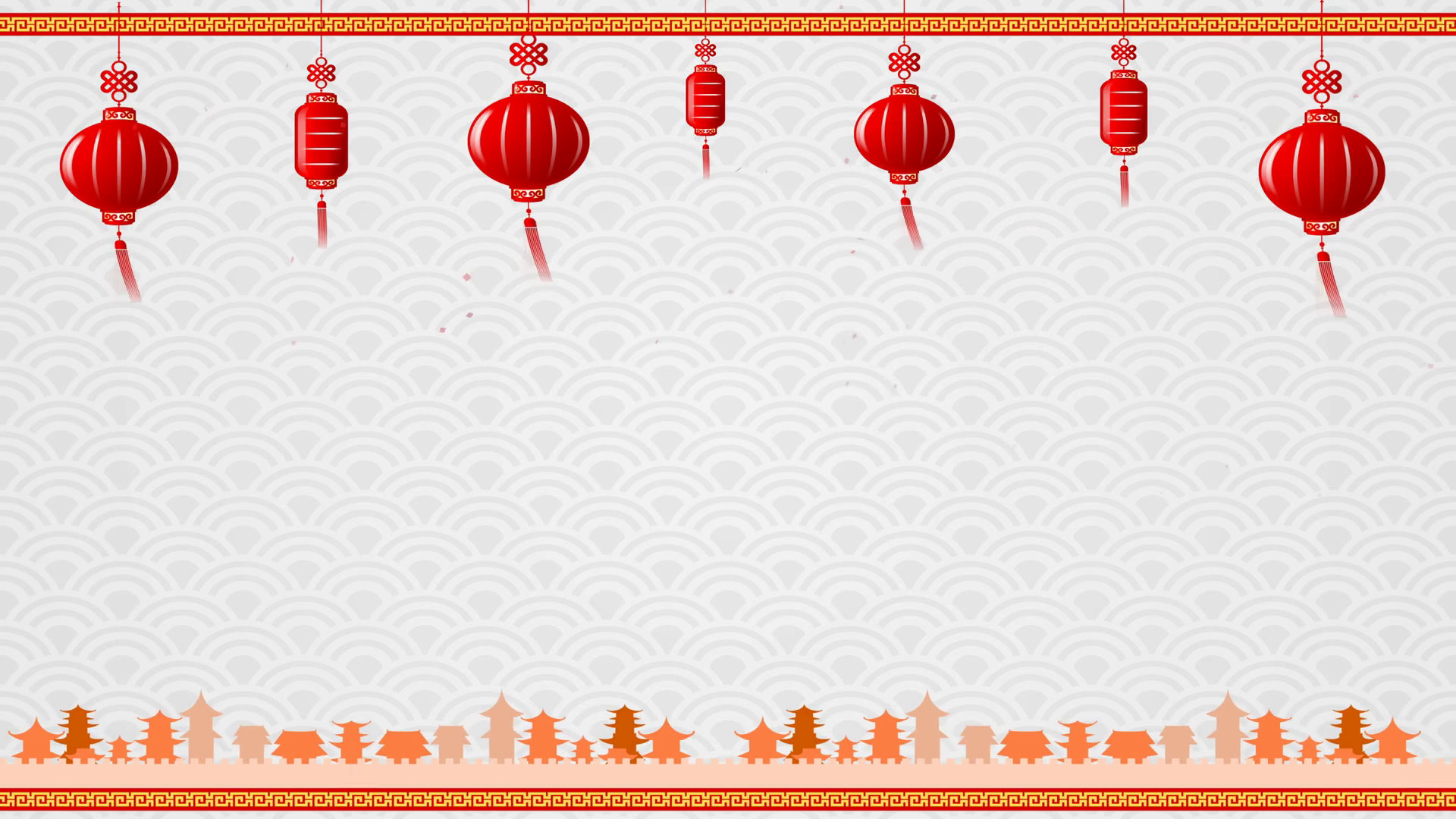 1920x1080 Chinese Art Background And Red Lantern With Moving Border With Copy Space  And Loop Motion Background - Storyblocks Video