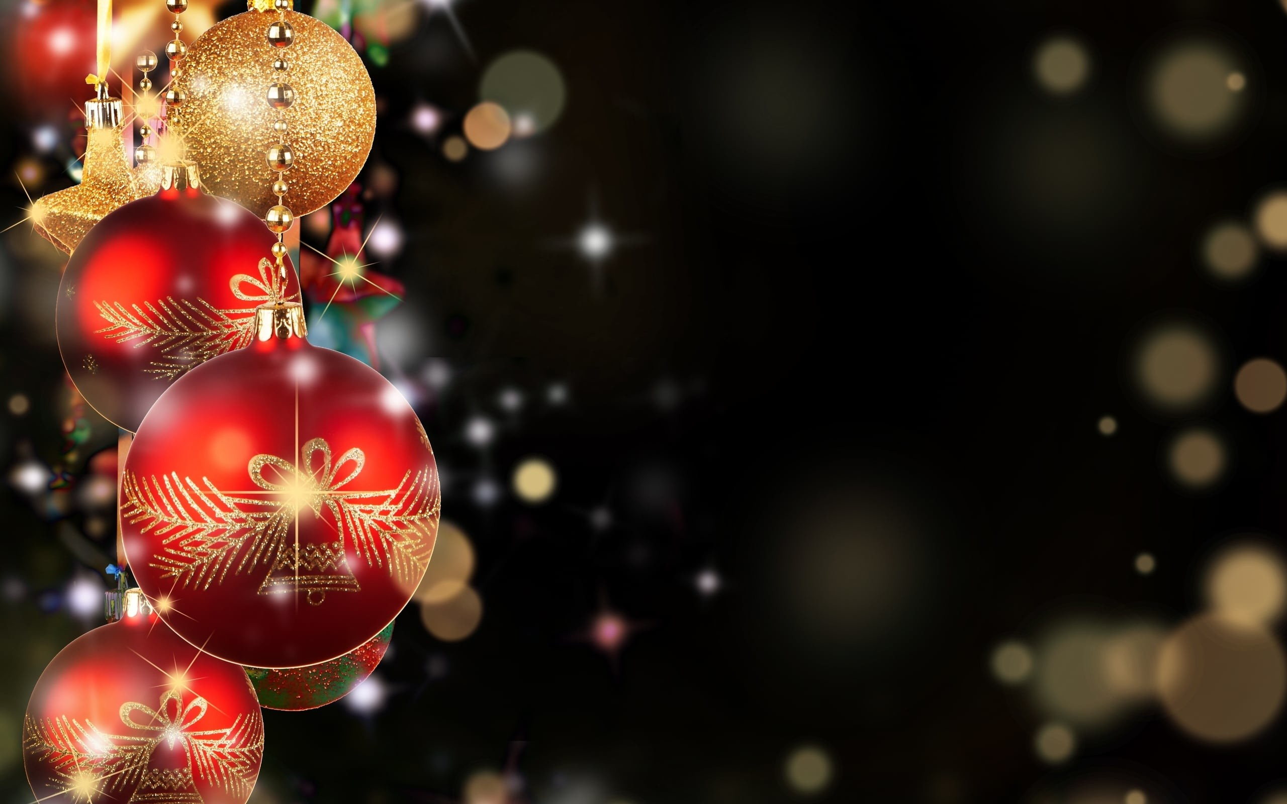 2560x1600 Best image of Christmas decorations