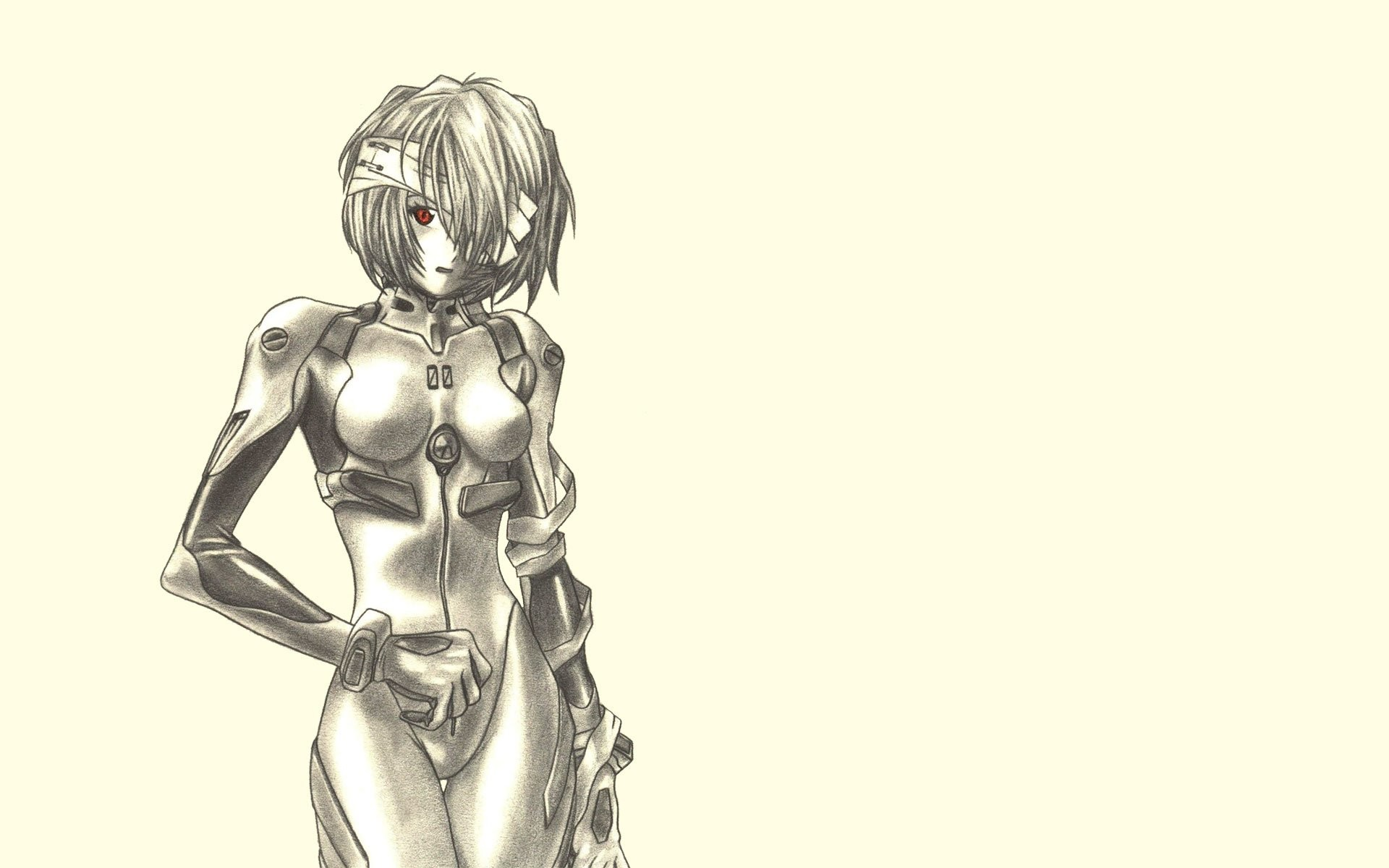 1920x1200 Ayanami Rei Neon Genesis Evangelion Drawings Fan Art Simple Background ...
