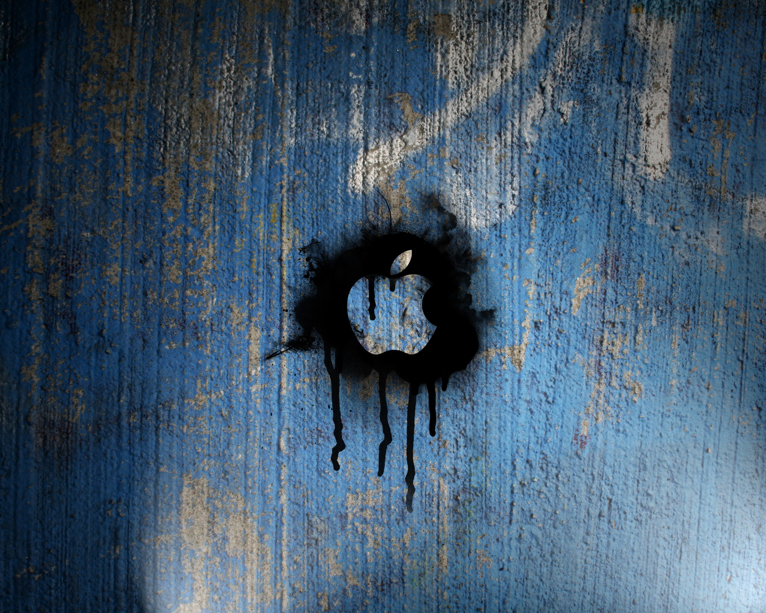 2560x2048 ... Wallpapers Apple 4k Wallpaper Blue  Blue, Apple, Inc,  Graffiti, Textures Background ...