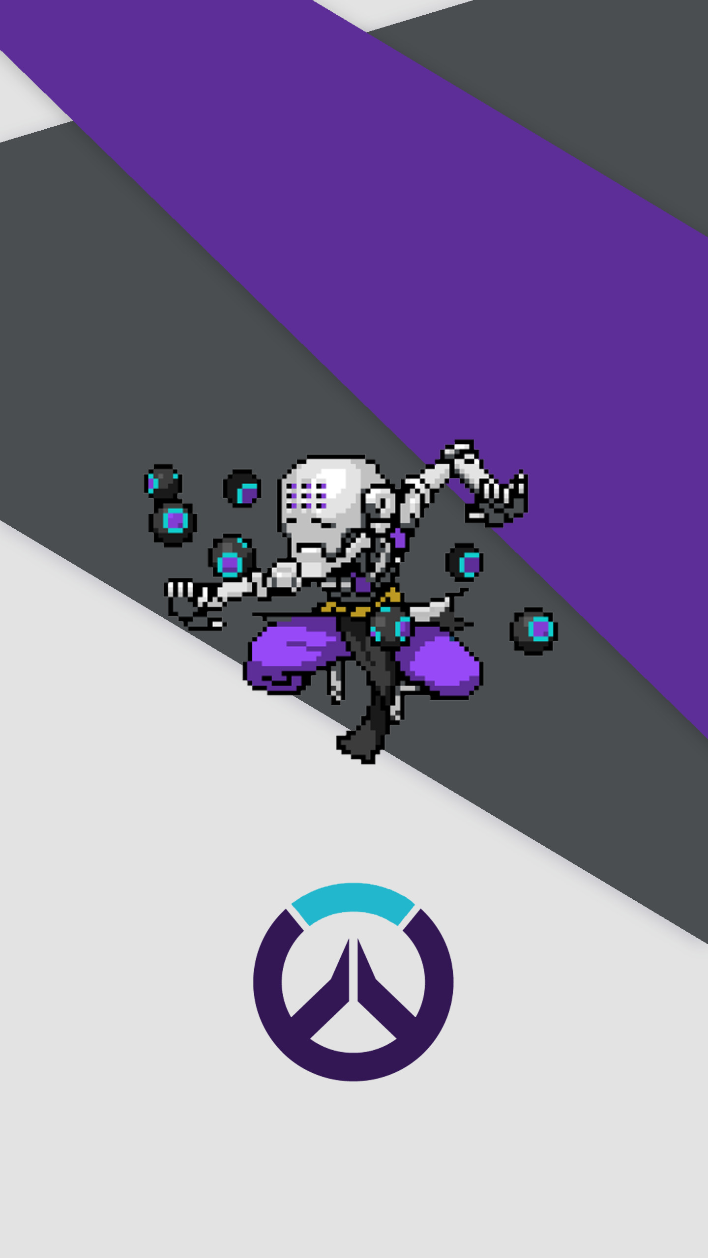 1440x2560 Zenyatta - 'Overwatch' Pixel Phone Wallpaper by artofsully ...