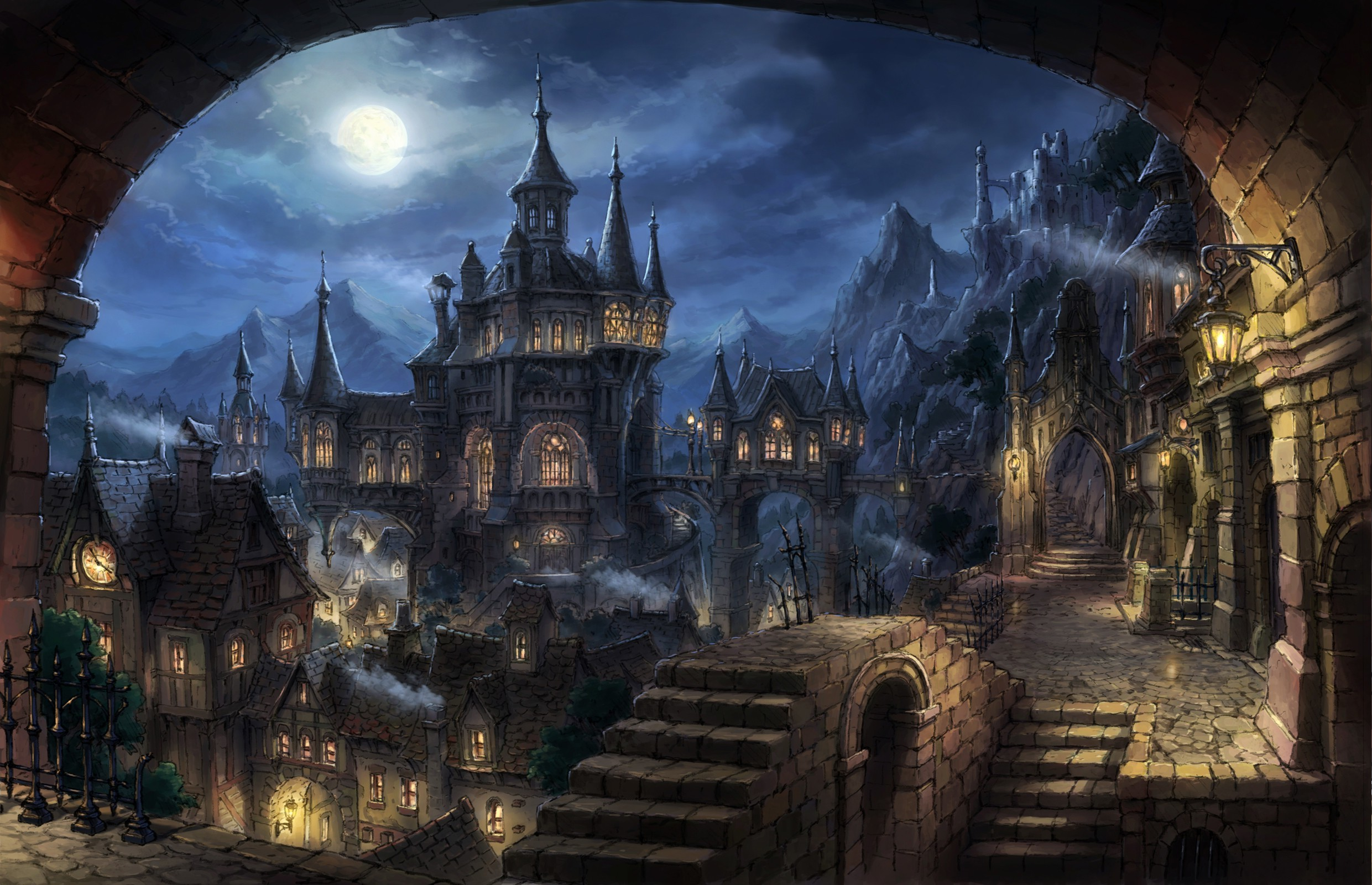2481x1600 cityscape, Dark Fantasy, Fantasy Art Wallpapers HD / Desktop and Mobile  Backgrounds