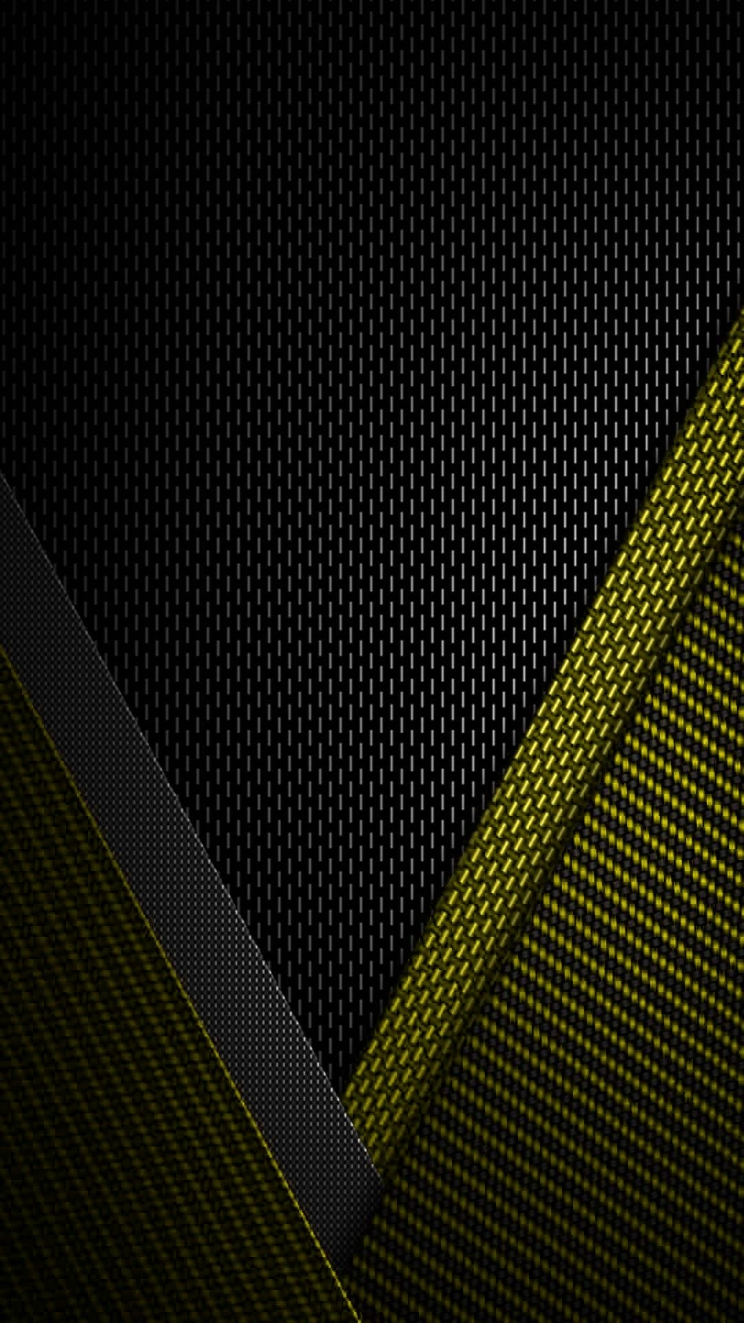 1080x1920 Black and Yellow Textured Wallpaper