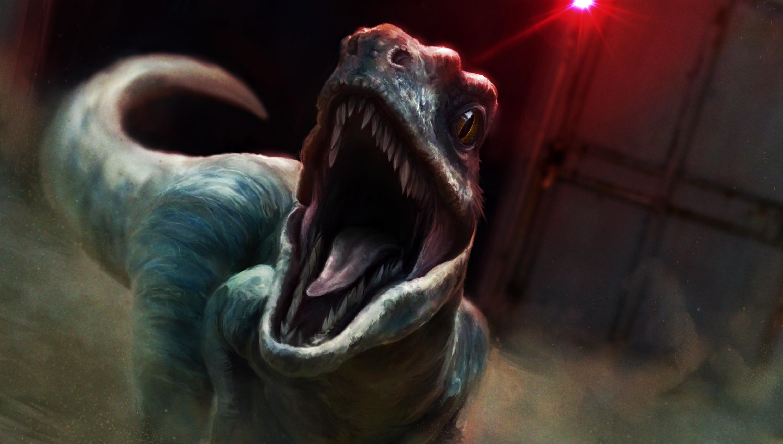 3000x1700 Jurassic World Raptor