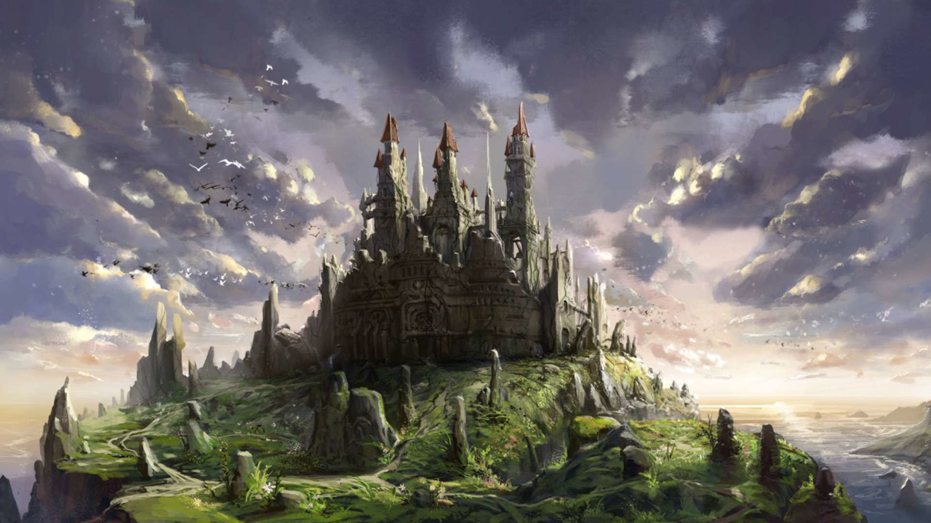 1920x1080 Fantasy Castle 1080p Wallpapers HD Resolution Wallpaper  px 169.85  KB