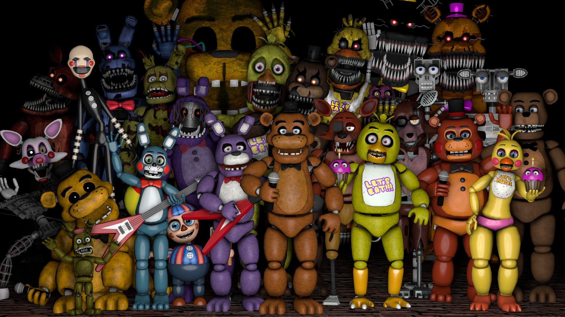1920x1080 ... Five Nights at Freddy's Thank You Poster by RobinOlsen2011