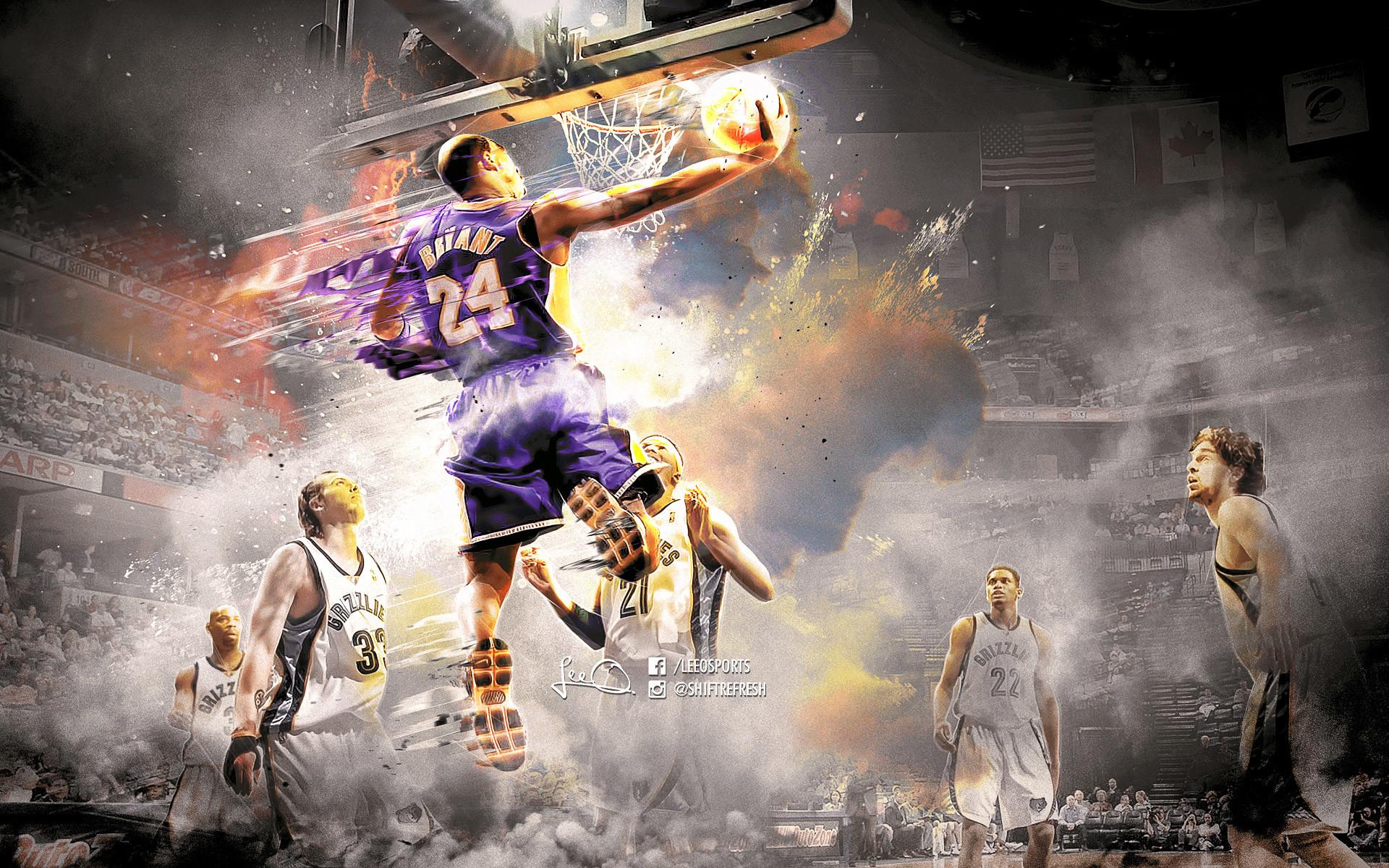 Kobe Bryant Dunk Wallpaper 70 Images