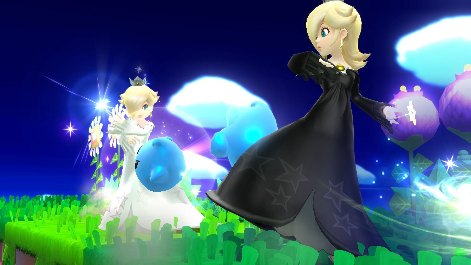 1920x1080 Monochrome Rosalina A Rosalina and Luma Super Smash Bros. for Wii U (SSBU)  Skin Mod submitted by amphetavin