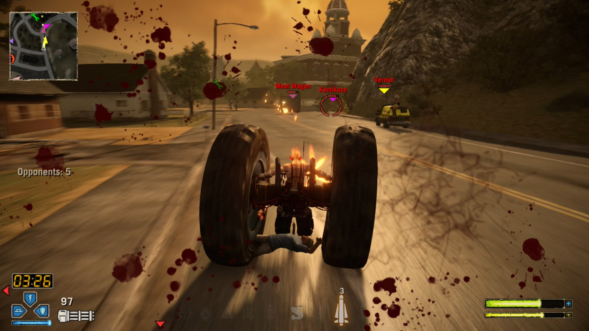 1920x1080 The story lines go the Twisted Metal: Black route, taking a more realistic  and dark approach. None of the characters, other than Calypso, have any  real ...