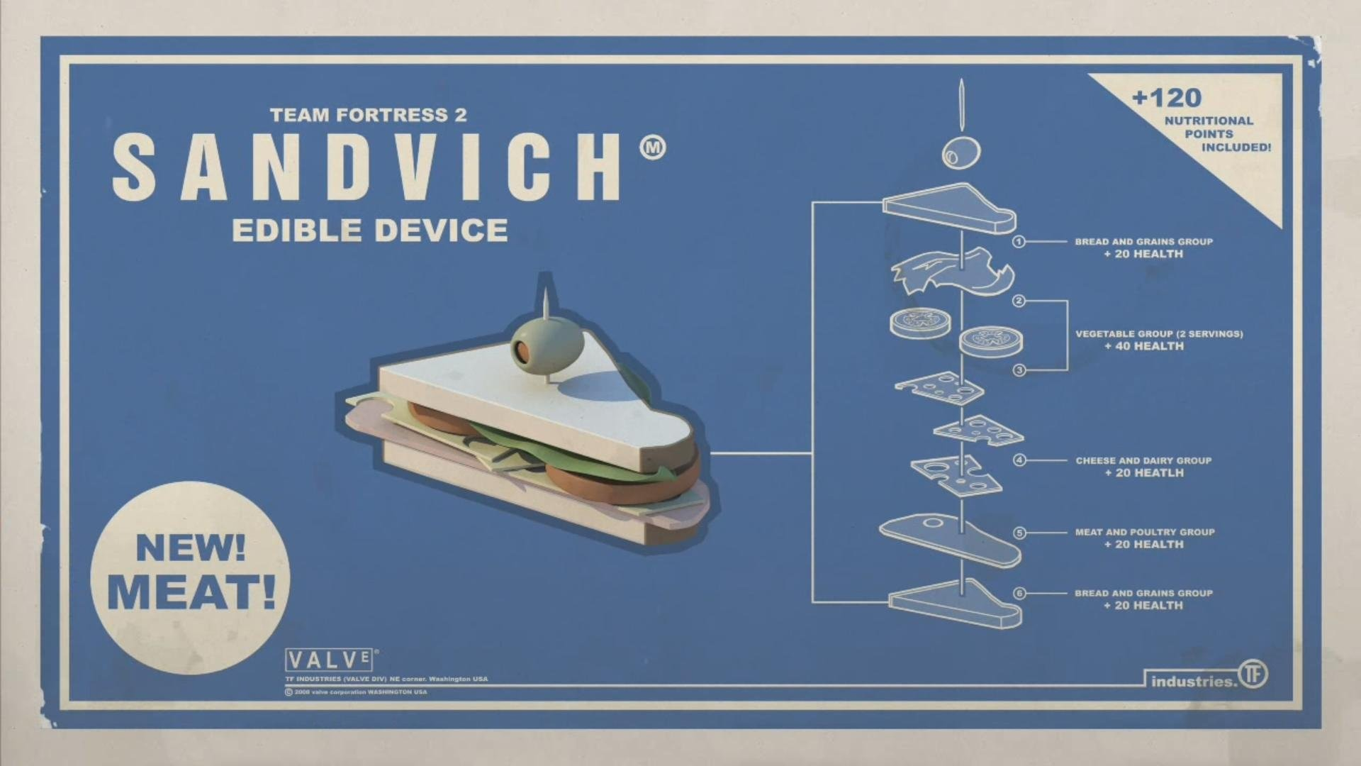 1920x1080 ... wallpapers hd; funny heavy sandvich sandwiches team fortress 2  walldevil ...
