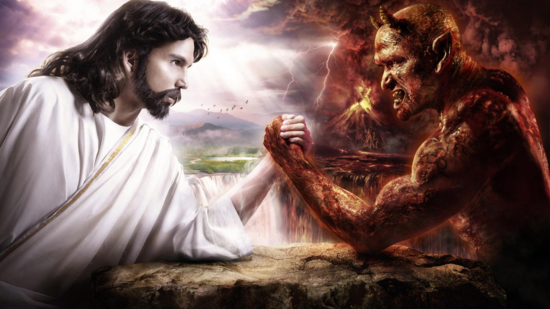 Jesus Vs Satan Wallpaper 55 Images