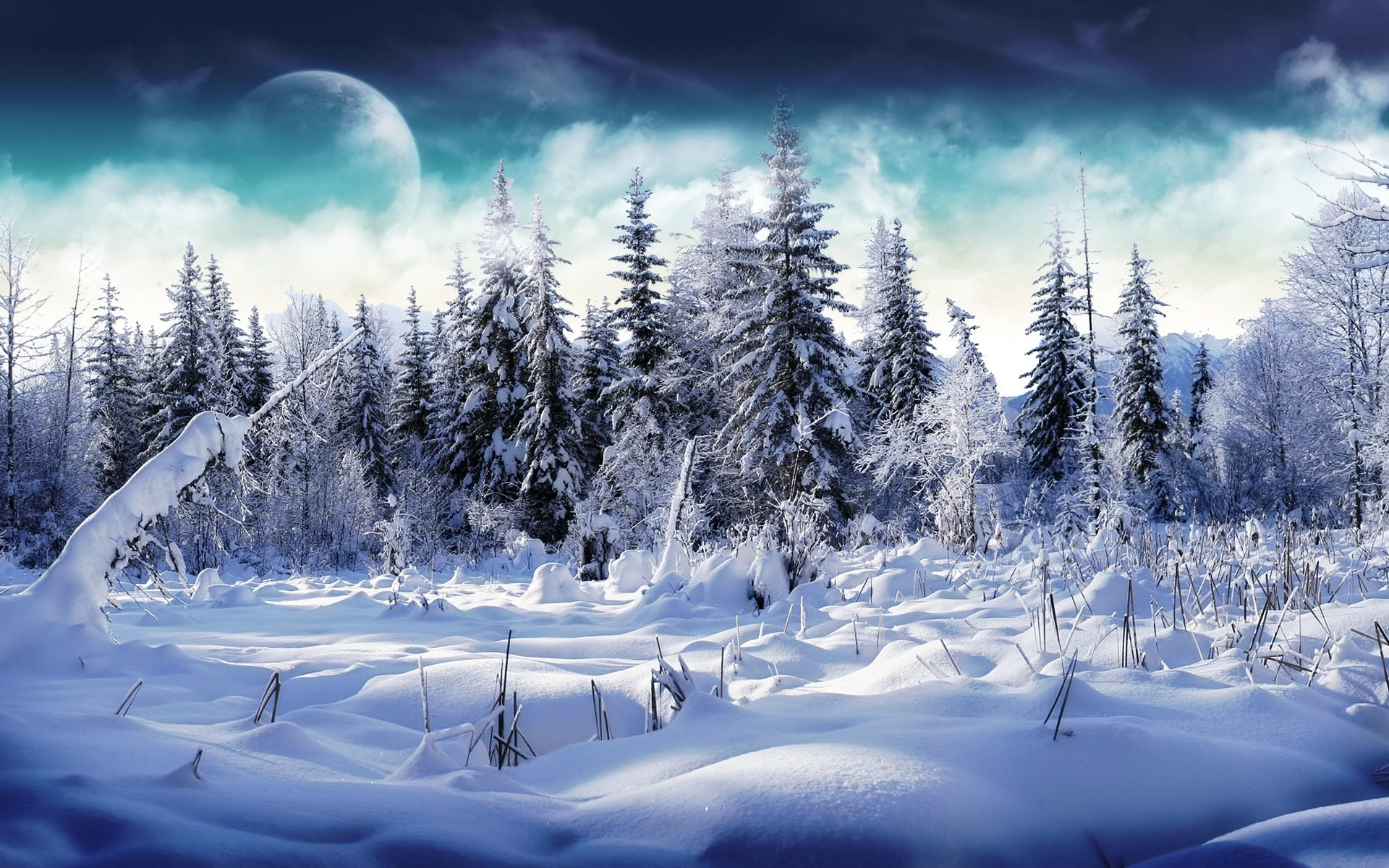 1920x1200 ... awesome-winter-painting-wolves-in-winter-hd-wallpapers- Beautiful  Winter Wallpapers HD ...