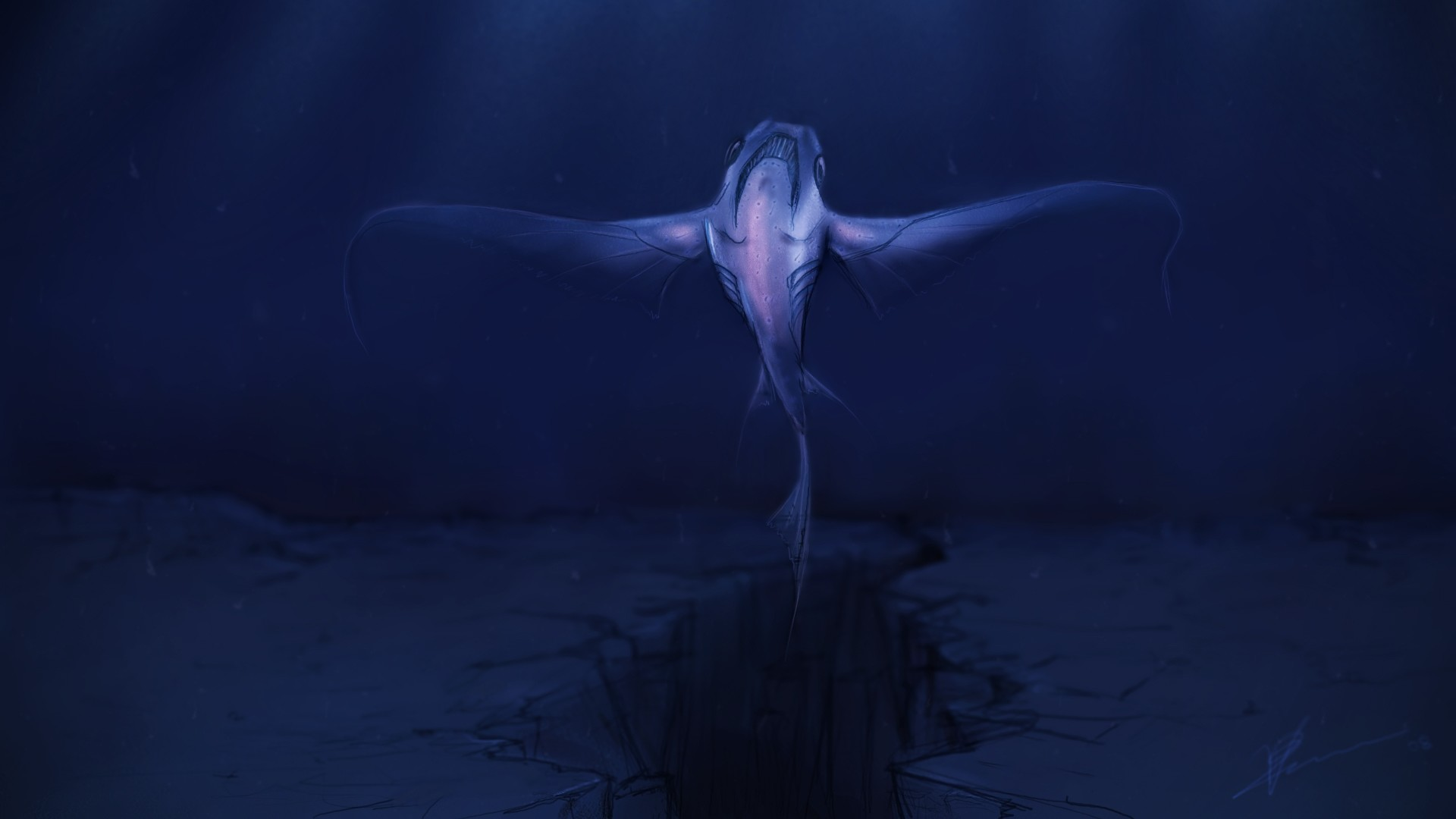 Deep Sea Angel - Fantasy &- Abstract Background Wallpapers on ...