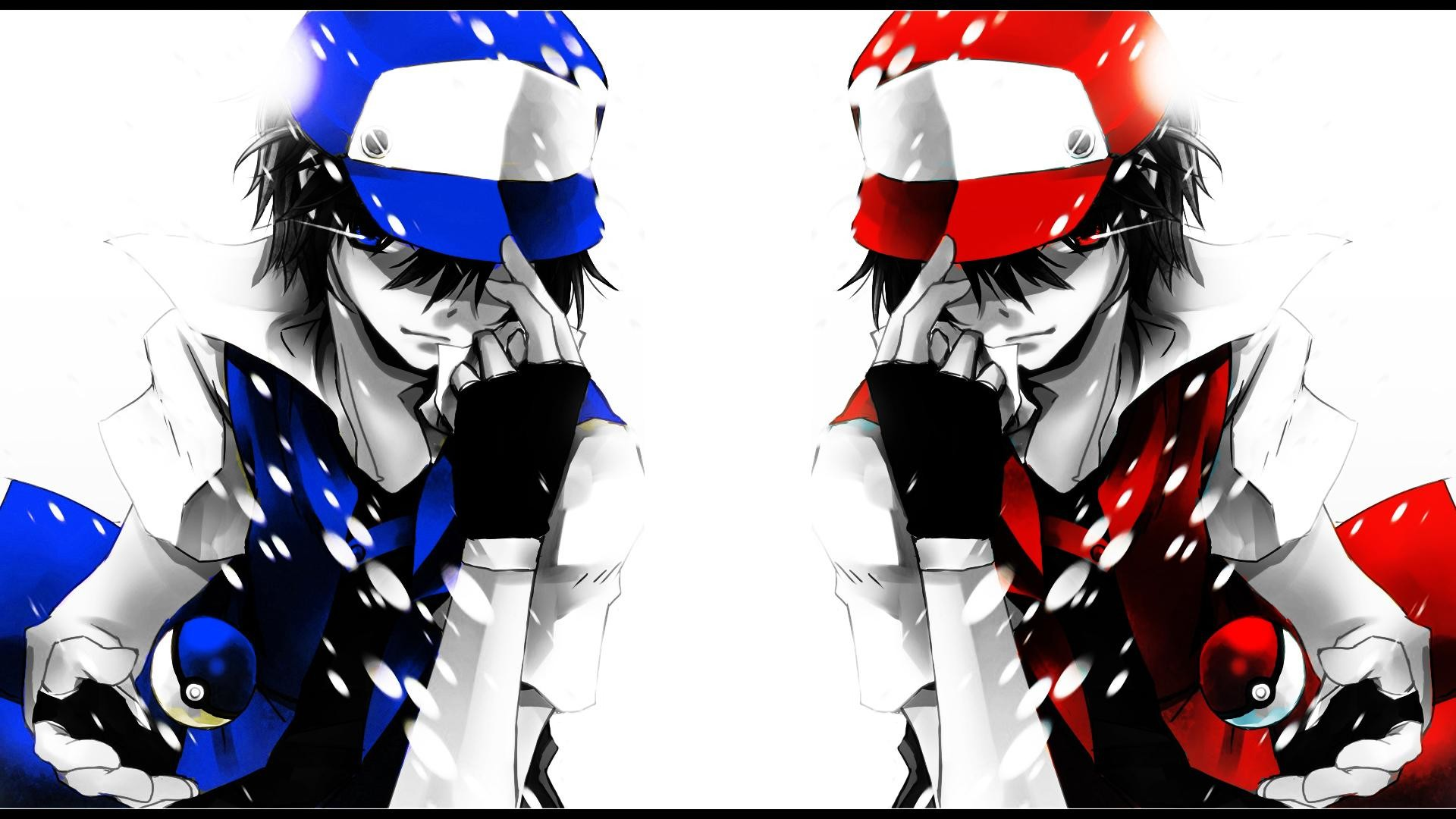 red vs blue wallpapers, top 40 red vs blue backgrounds, #zs42 on Pokemon