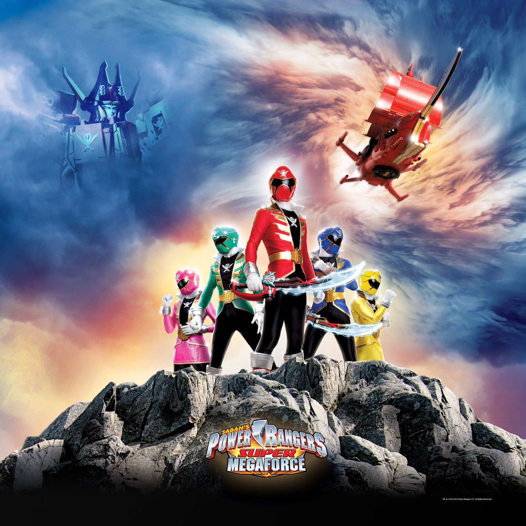 2048x2048 Wallpaper Super Megaforce Group 2 Fun iPad Wallpapers for Kids