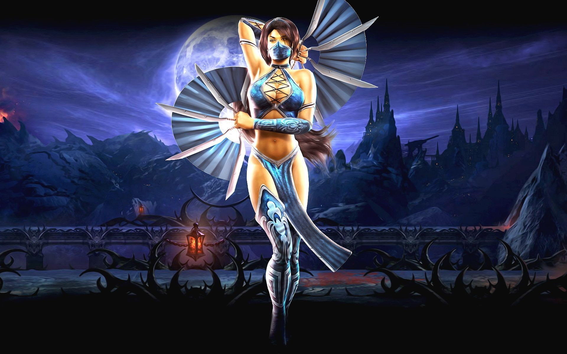 1920x1200 Mortal Kombat wallpaper Kitana with fans Read more