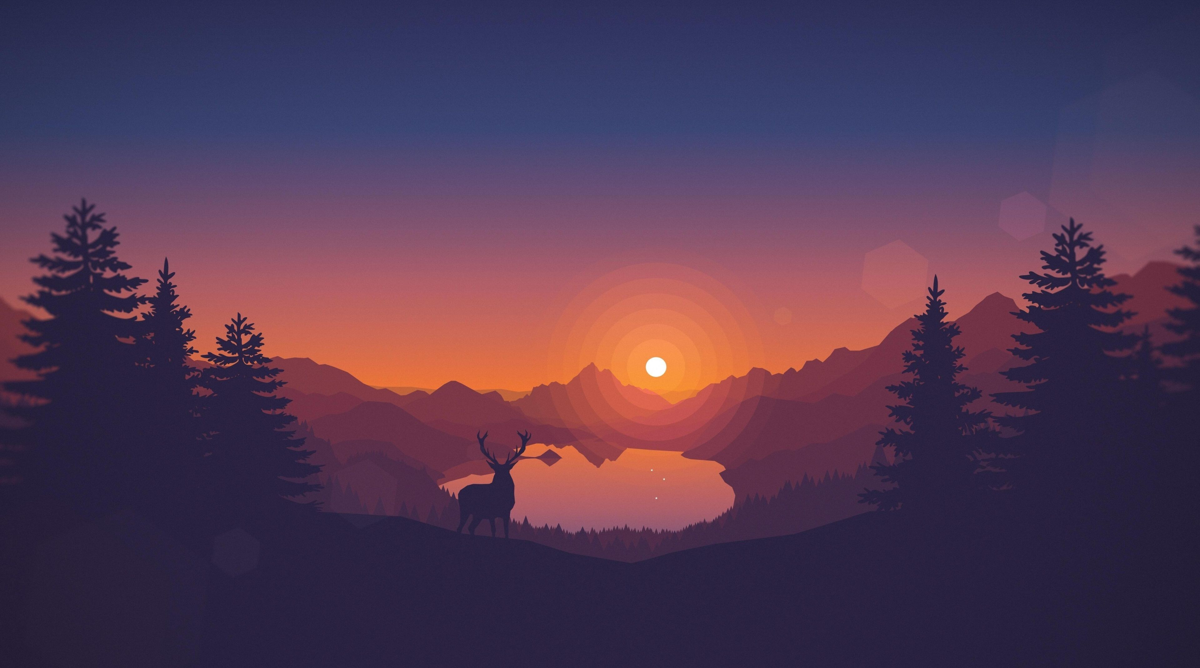 3840x2138  firewatch 4k desktop wallpaper cool