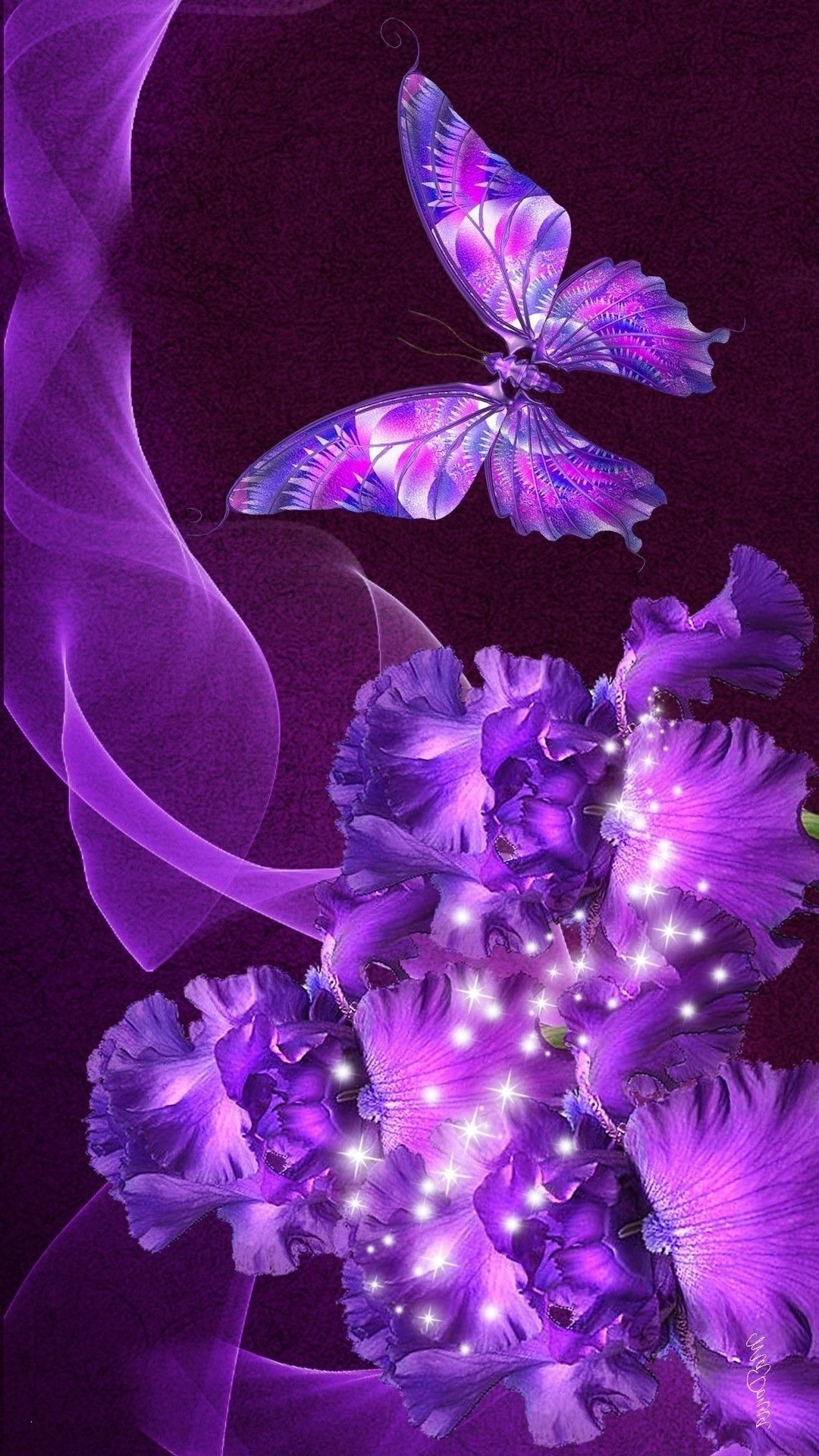 Purple Butterfly Wallpaper (77+ images)