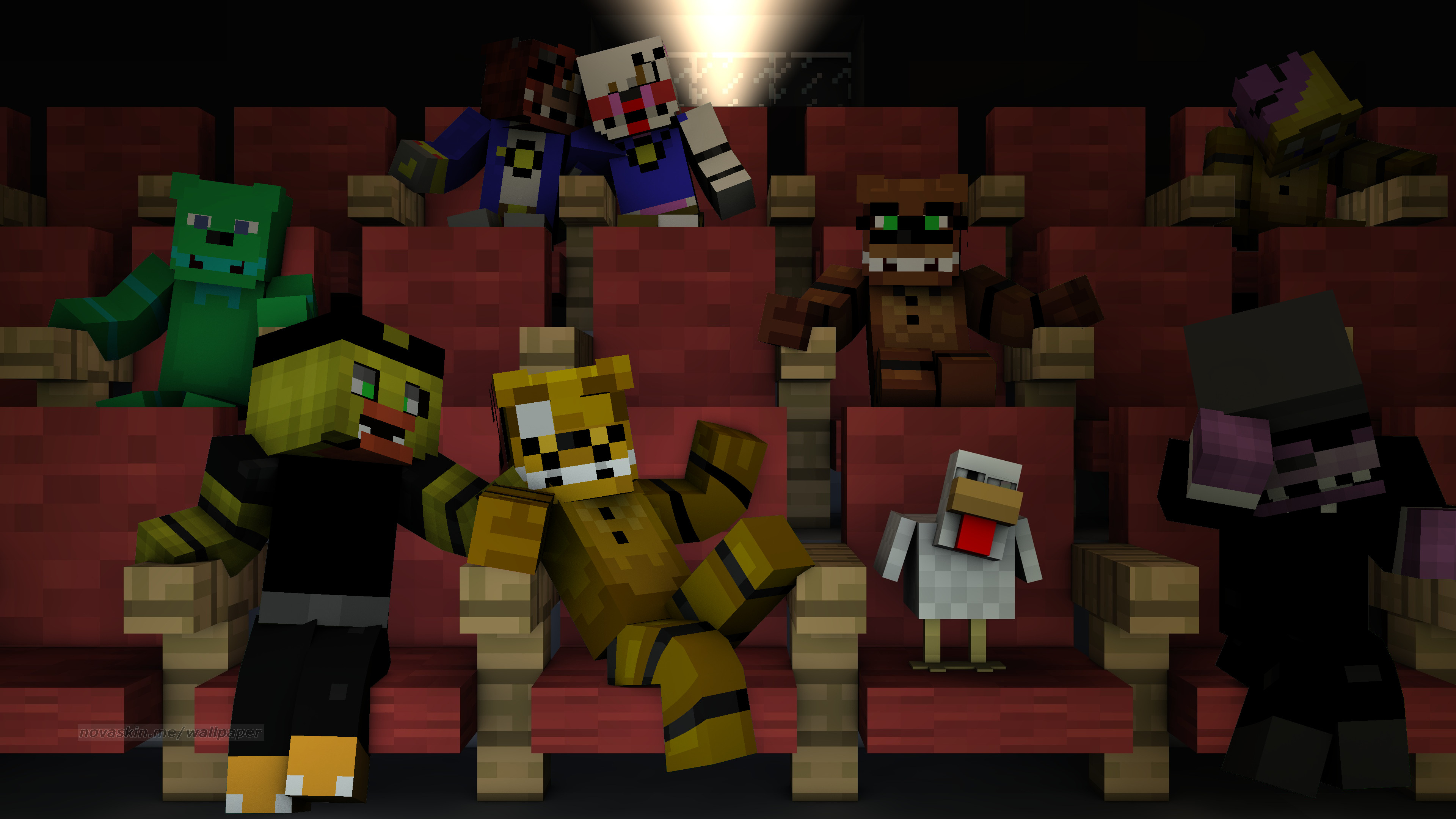 3840x2160 Filename: minecraft_theater_gift_wallpaper_by_foxymanmaster1987-d9jzb1y.png