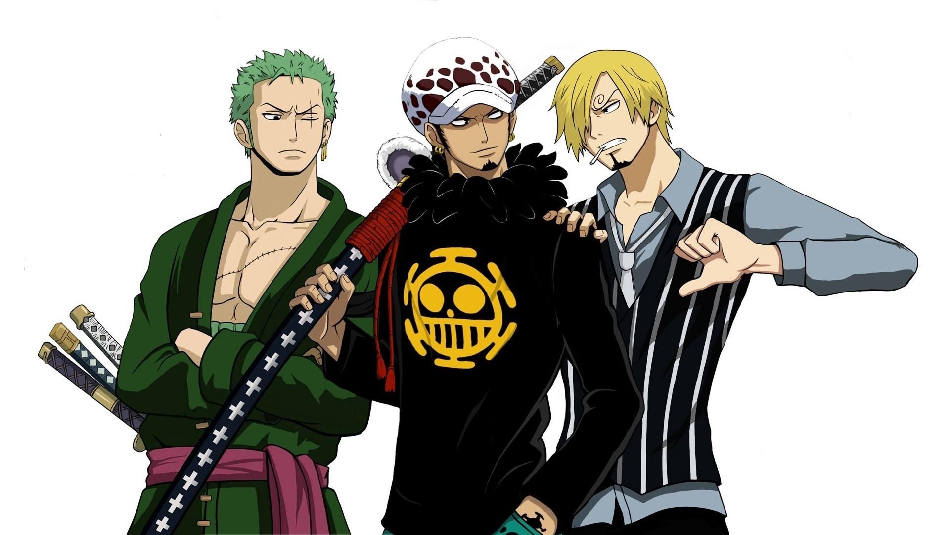 1920x1200 Mihawk Crocodile Doflamingo Wallpaper Hd Chibi One Piece Anime