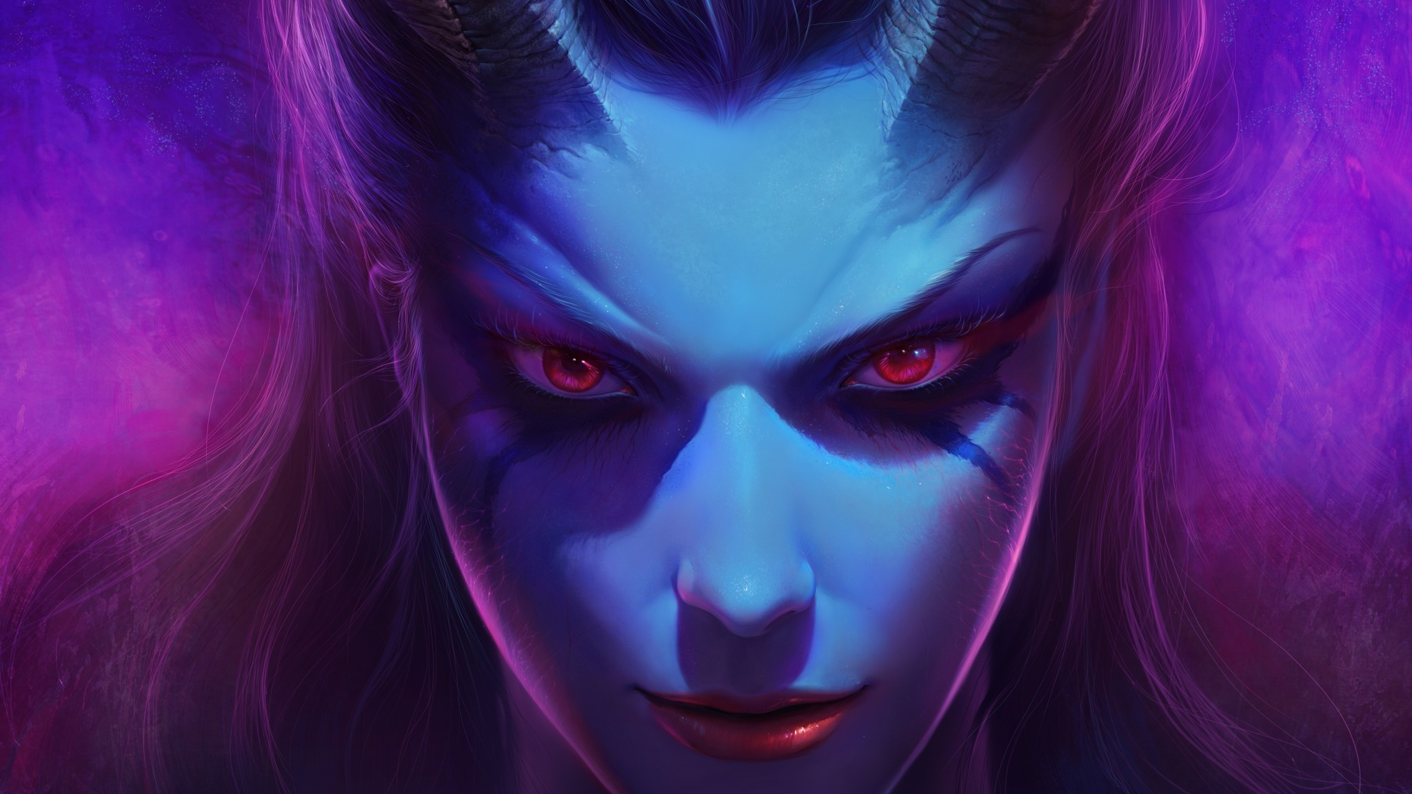 2048x1152  Wallpaper dota 2, queen of pain, akasha, succubus