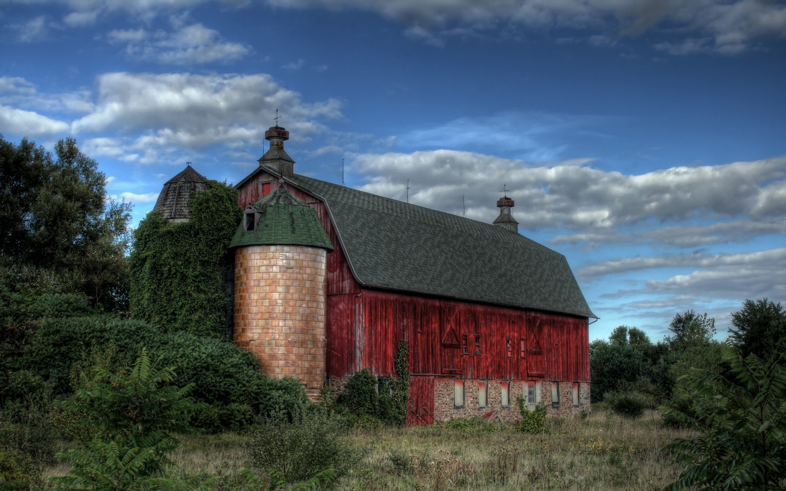 2560x1600 Red barn Wallpaper Miscellaneous Other Wallpapers