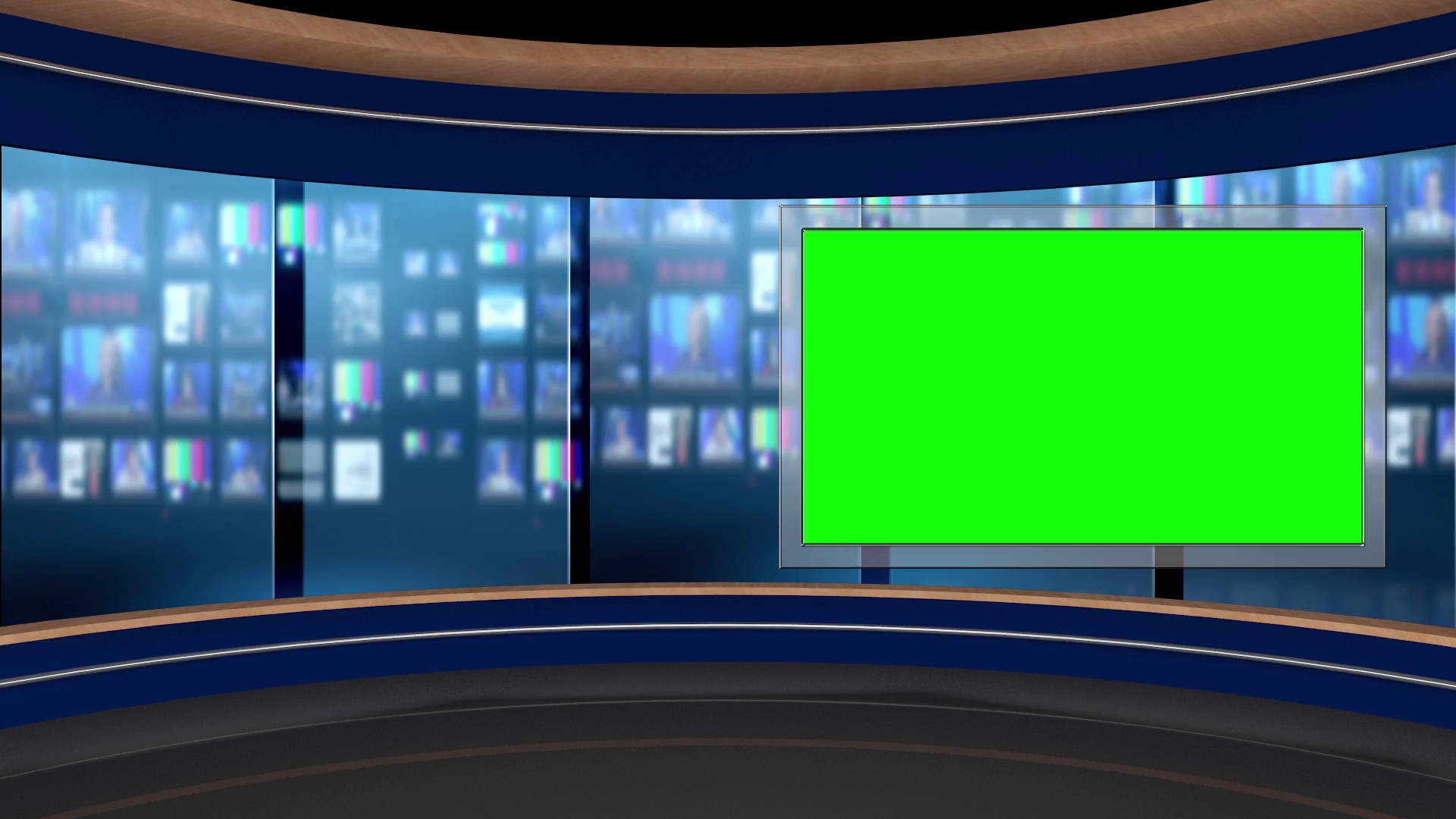1920x1080 125 Hd News Tv Virtual Studio Green Screen Background Blue Control Room Monitor Motion Background