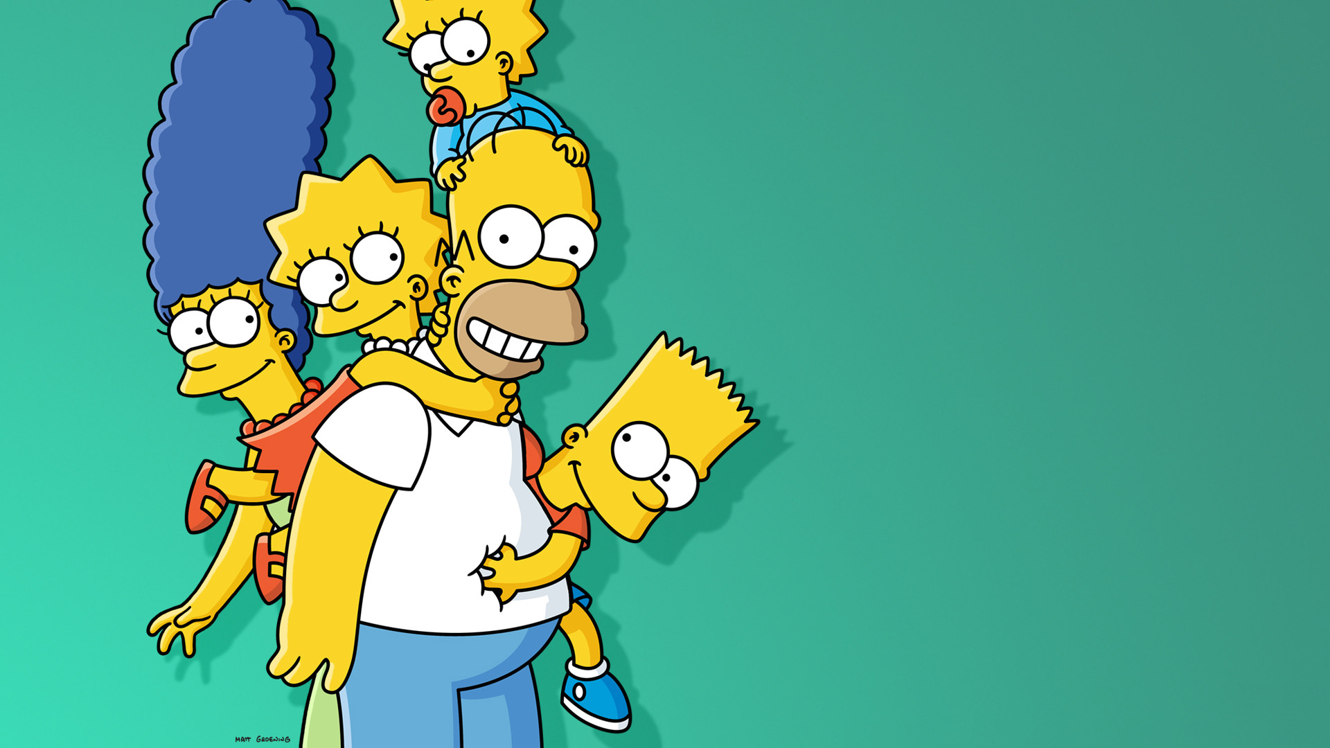 1920x1080 TV Show - The Simpsons Maggie Simpson Marge Simpson Lisa Simpson Homer  Simpson Bart Simpson Wallpaper