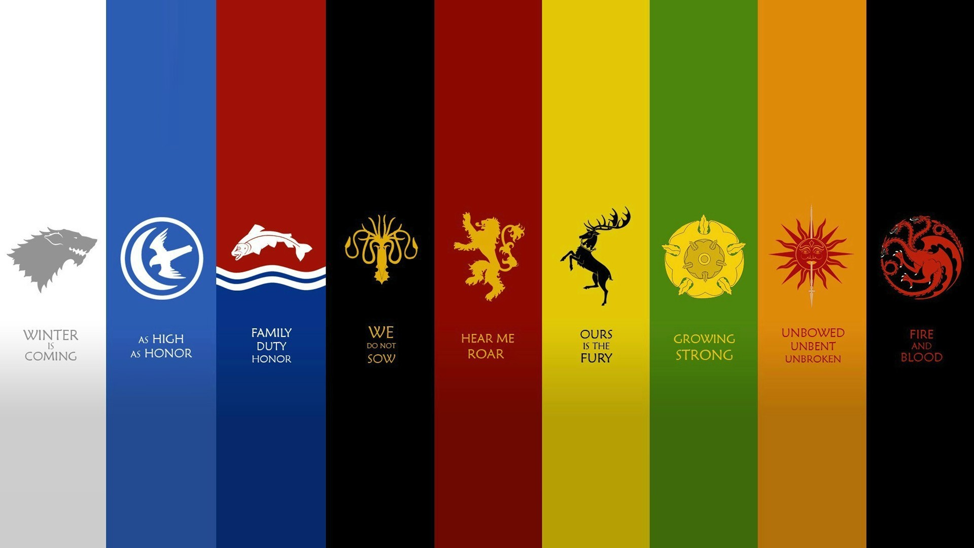 1920x1080 quotes houses fantasy art Game of Thrones emblems A Song of Ice and Fire  George R_