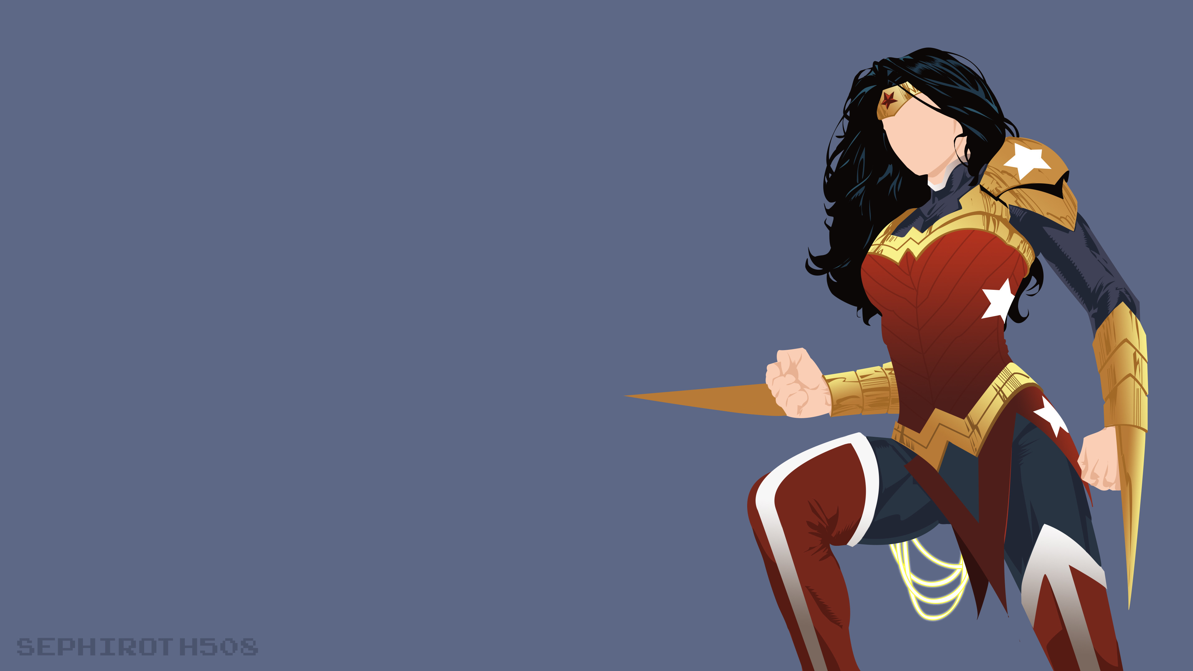 3840x2160 Wonder Woman Minimalist