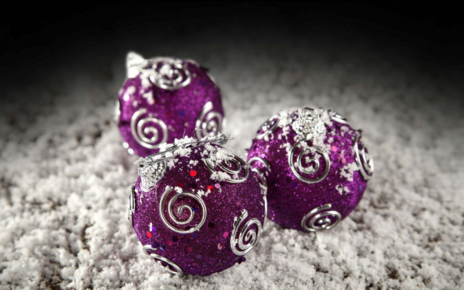 1920x1200 Purple And Silver Christmas Balls Wallpaper | HD Christmas Wallpaper Free  Download ...