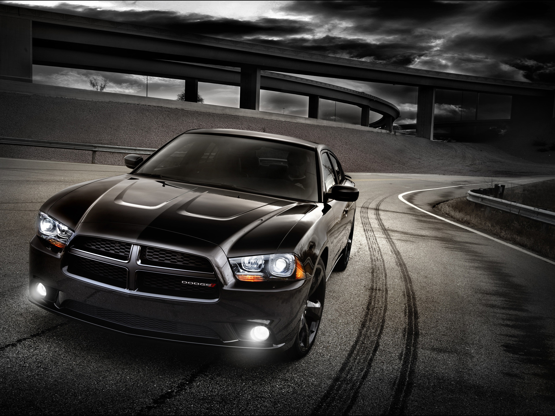 1920x1440 Black Dodge Charger Wallpaper 20203