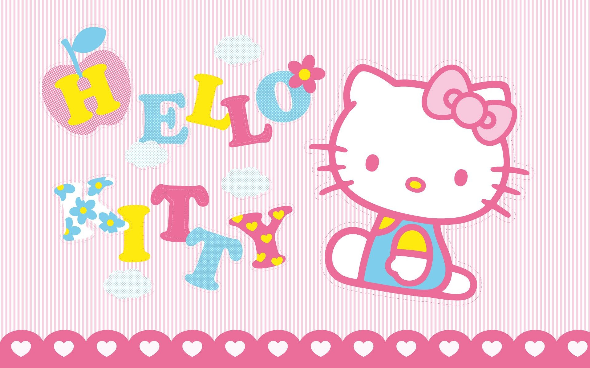 1920x1200 Merry Christmas And Happy New Year Hello Kitty 2 With Background Wallpaper  Very Similar Pink