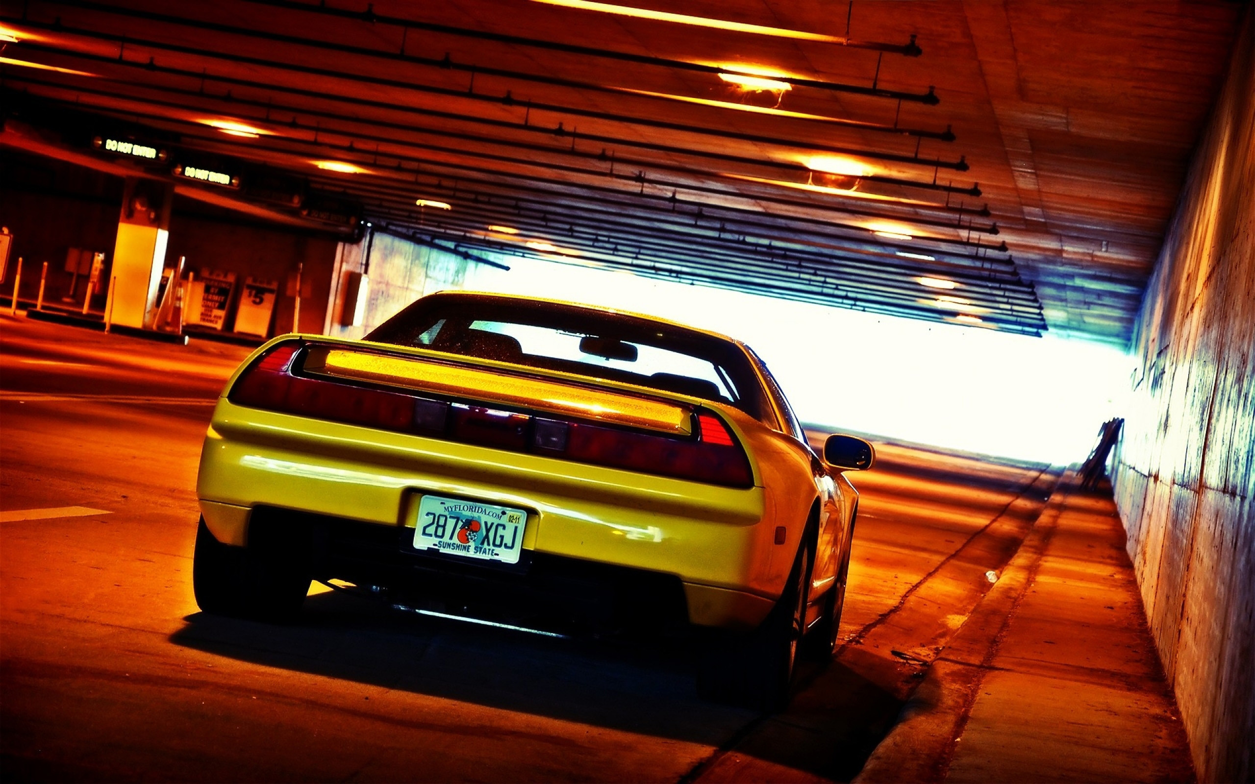 2560x1600 HD Wallpaper of Yellow Cars Honda Nsx Tunnel Jdm, Desktop Wallpaper Yellow  Cars Honda Nsx