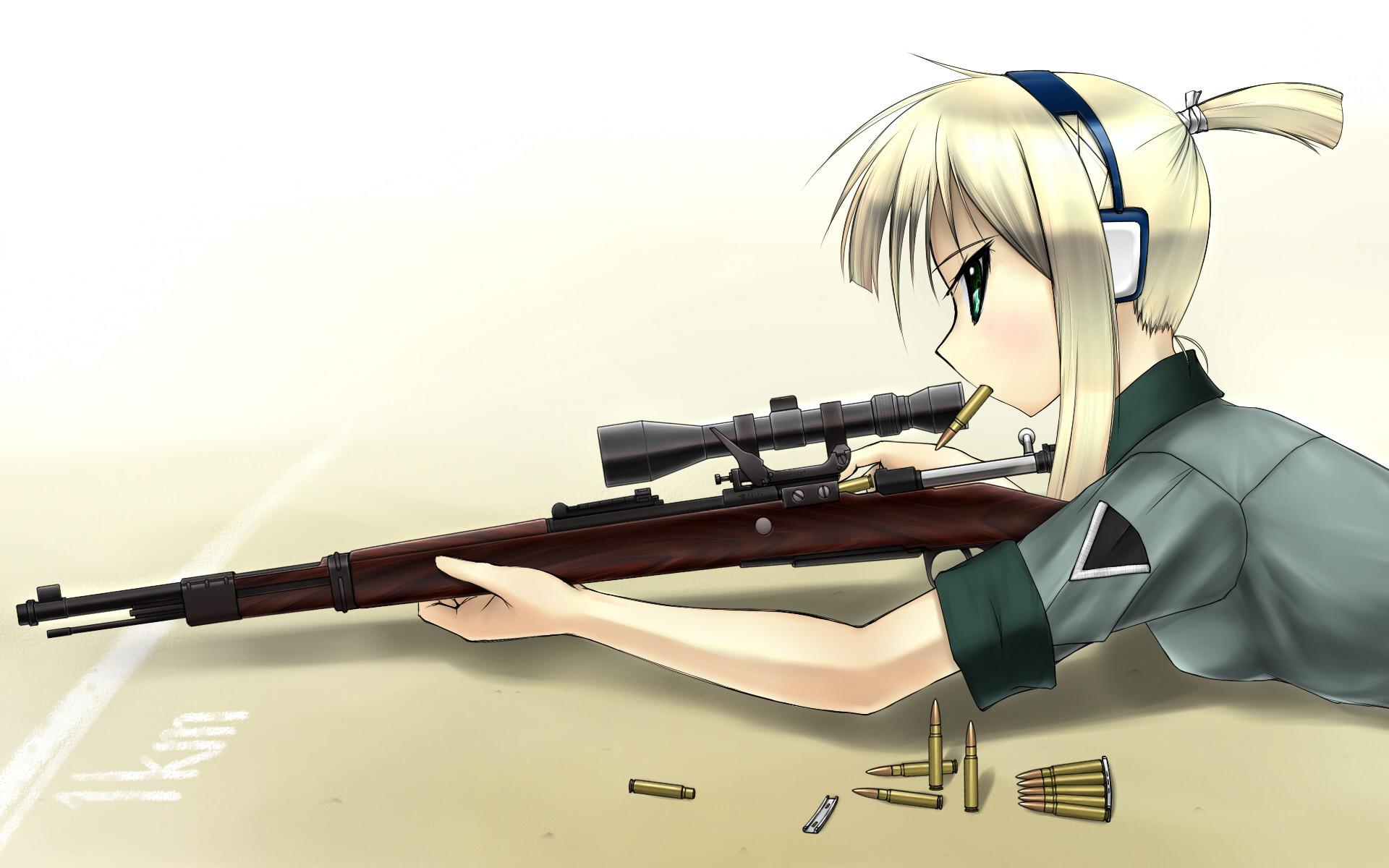 Anime sniper wallpaper 62 images - Anime sniper girl ...