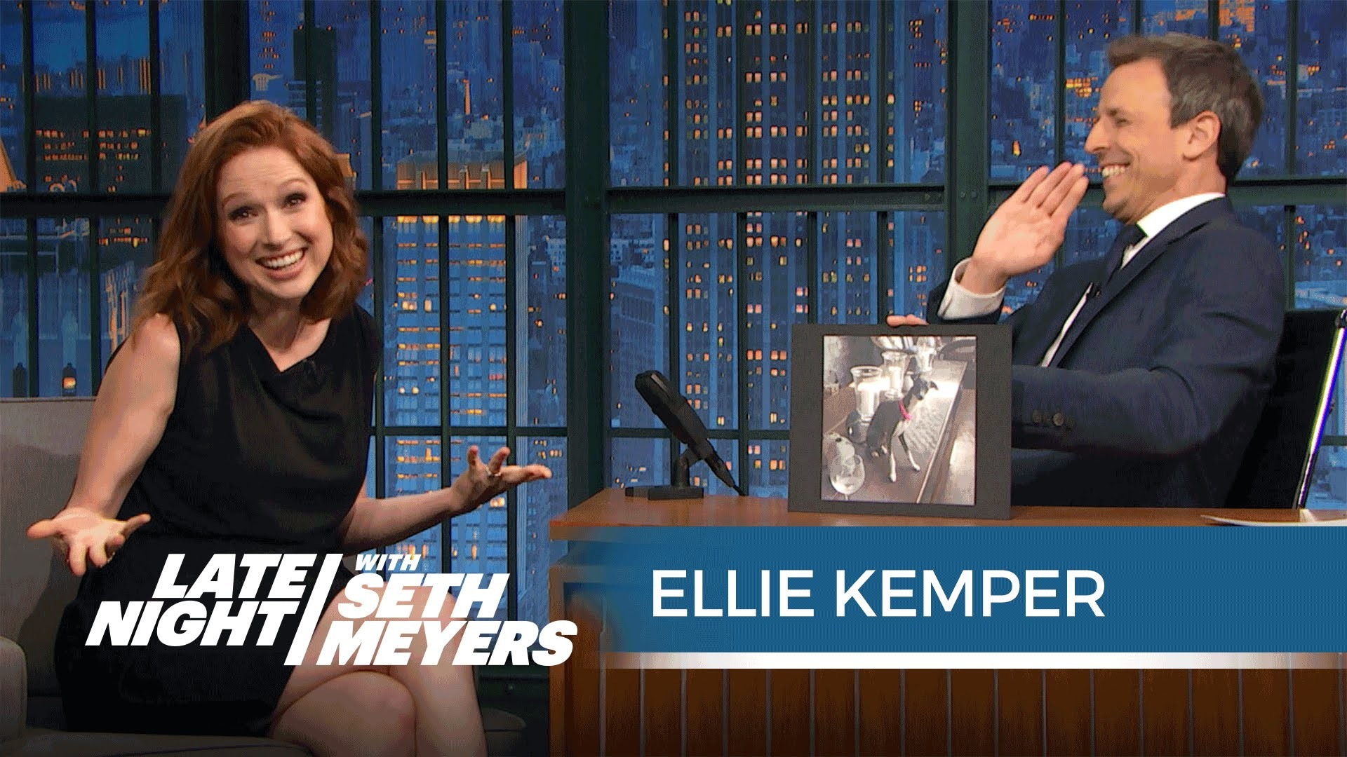 1920x1080 Like Andy Samberg, Ellie Kemper Does Not Understand Seth's Dog - YouTube