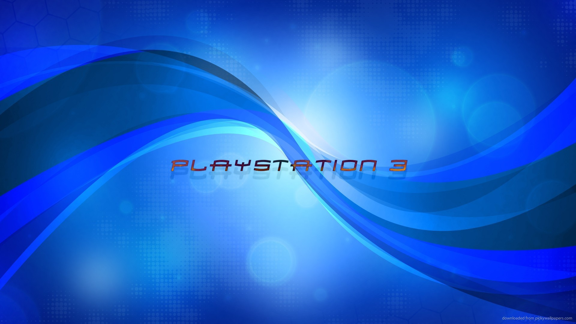 1920x1080 Playstation 3 blue logo for