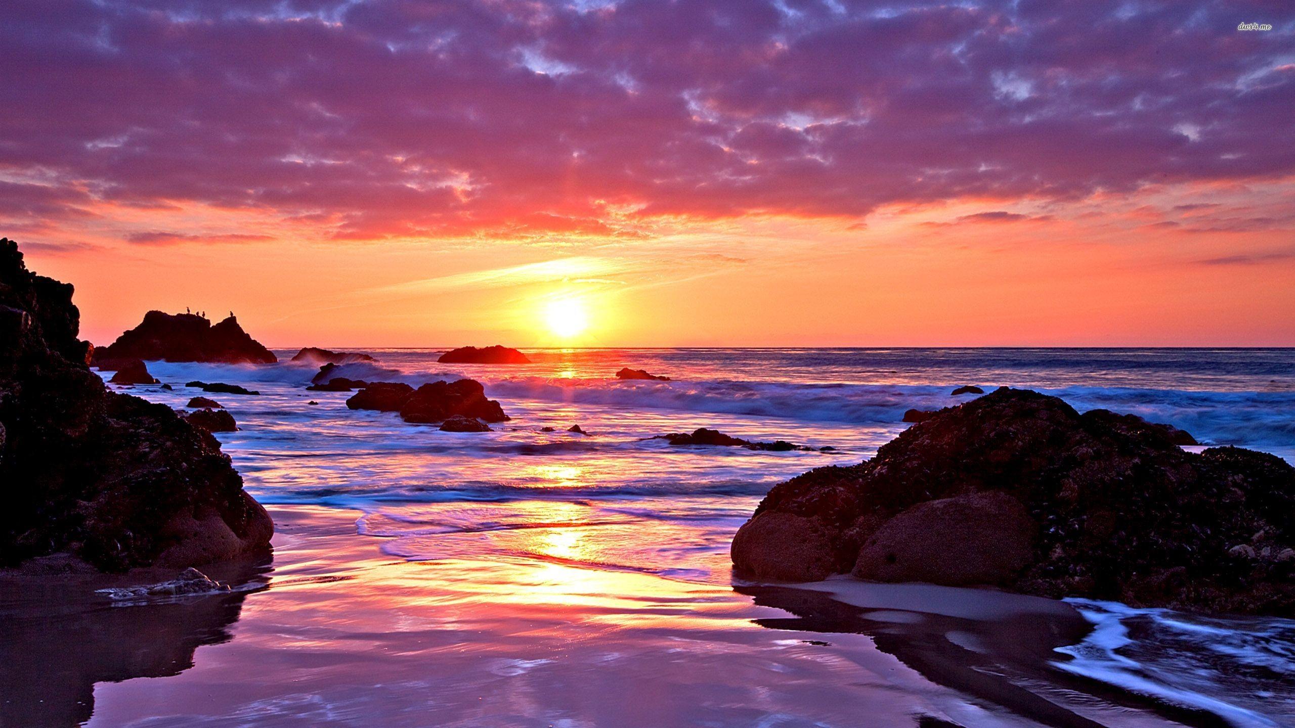 1920x1200 Summer Beach Sunset Wallpaper Wide Picture 12627